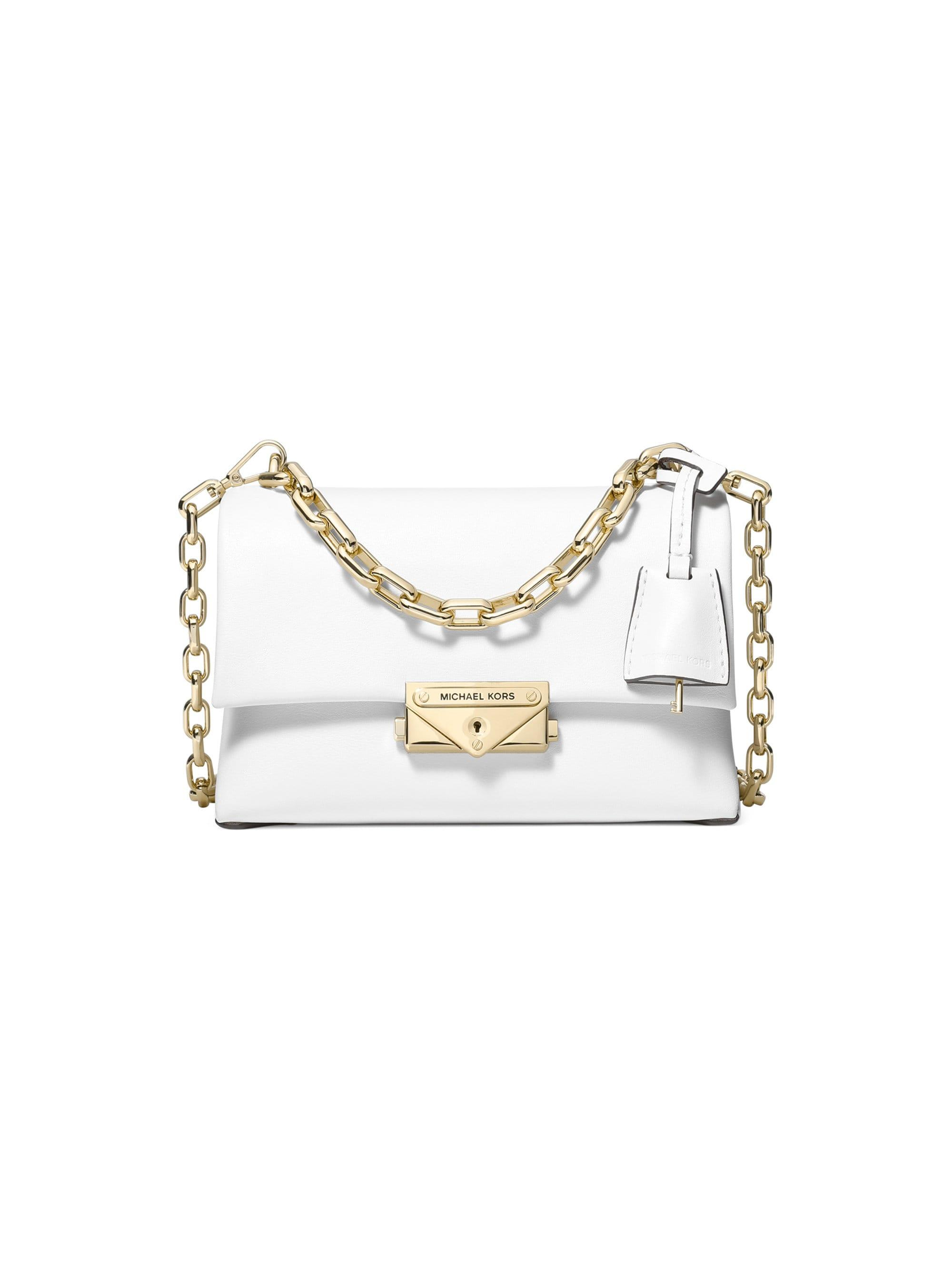 c156d80f9524 Michael Kors Michael Cece Extra Small Leather Crossbody in White - Lyst