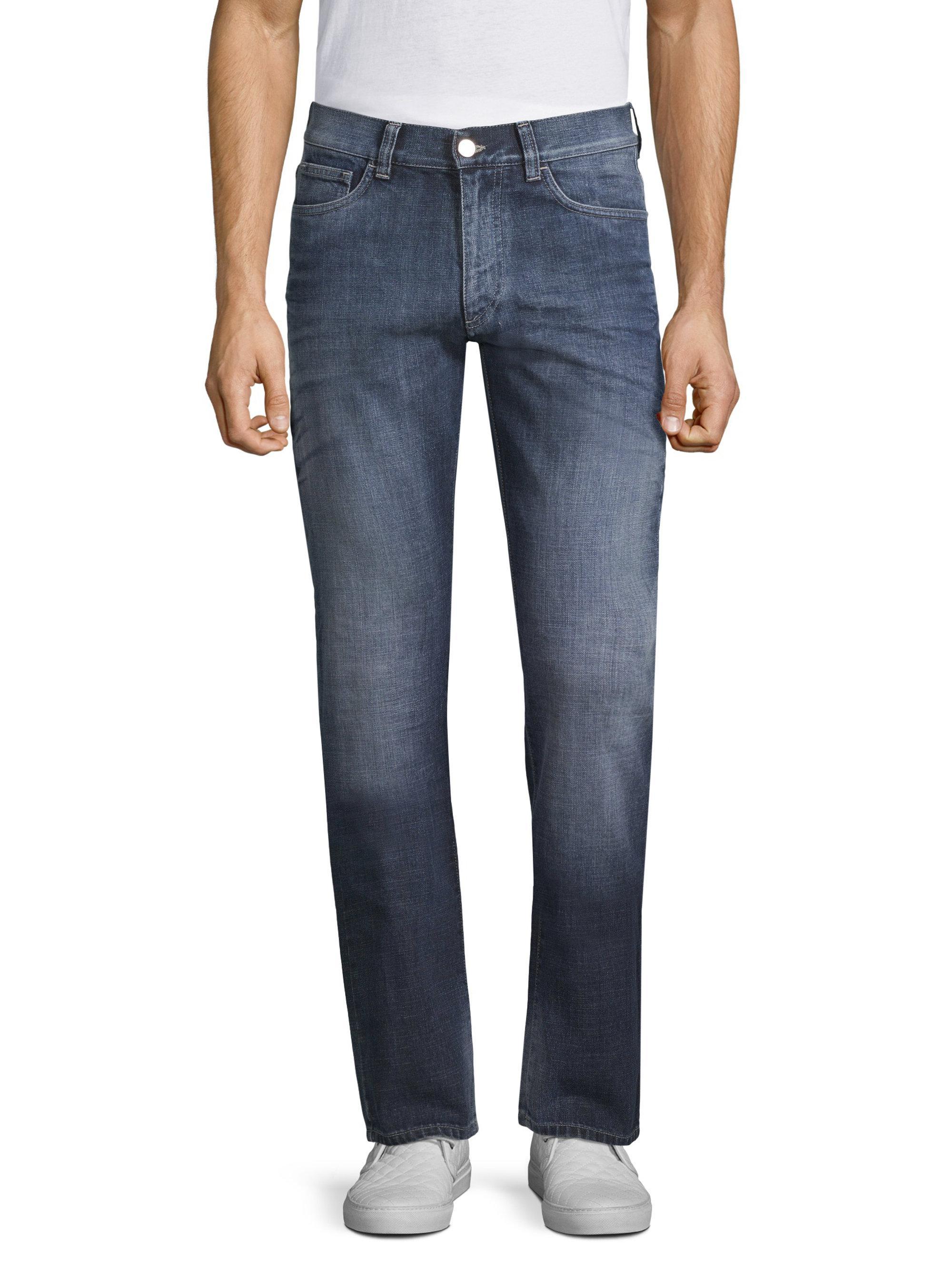 Relaxed-fit jeans in stretch cross-weave denim BOSS 9d5mC