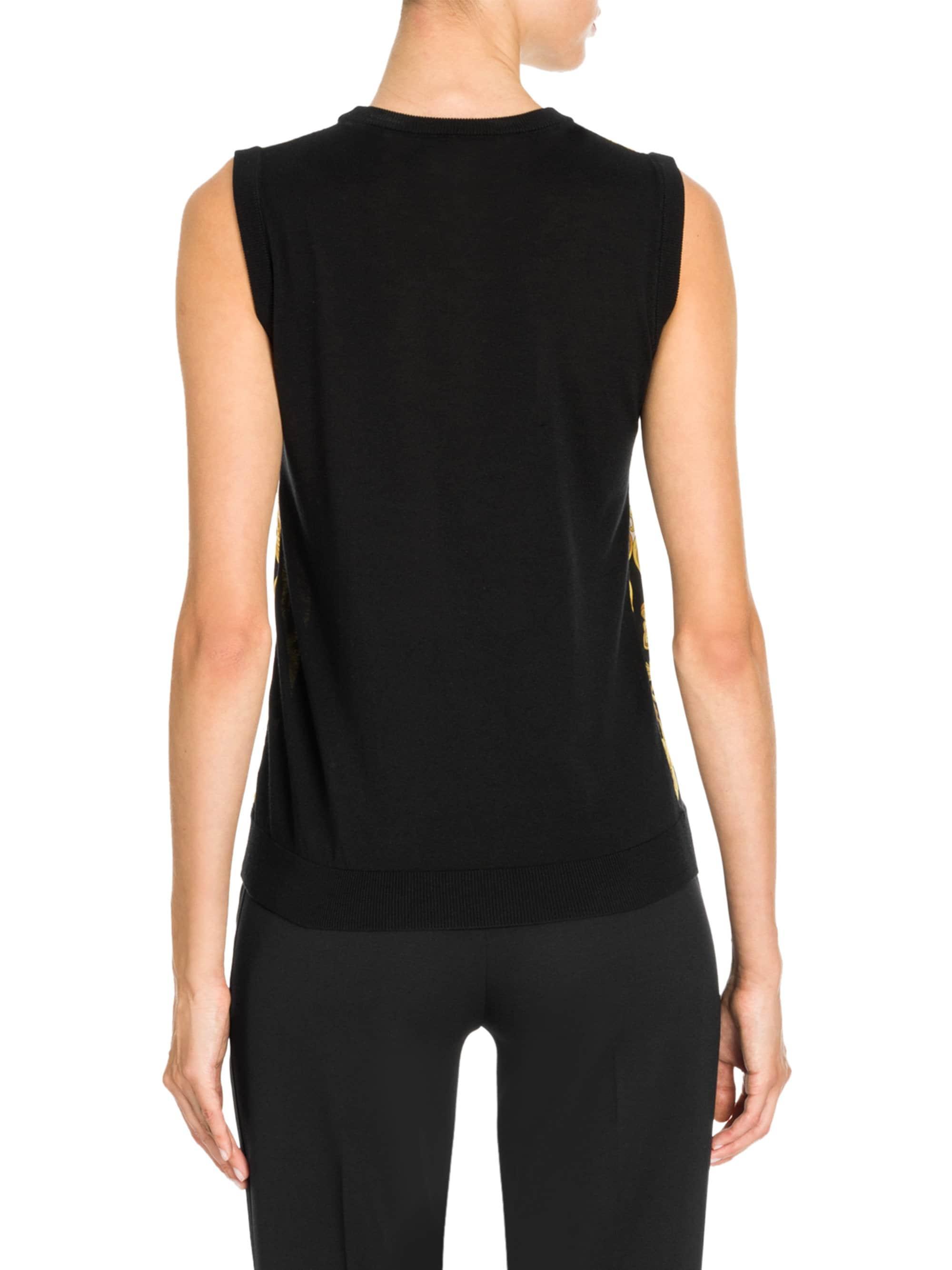 25627347f5 Versace - Black Hibiscus Print Silk Top - Lyst. View fullscreen