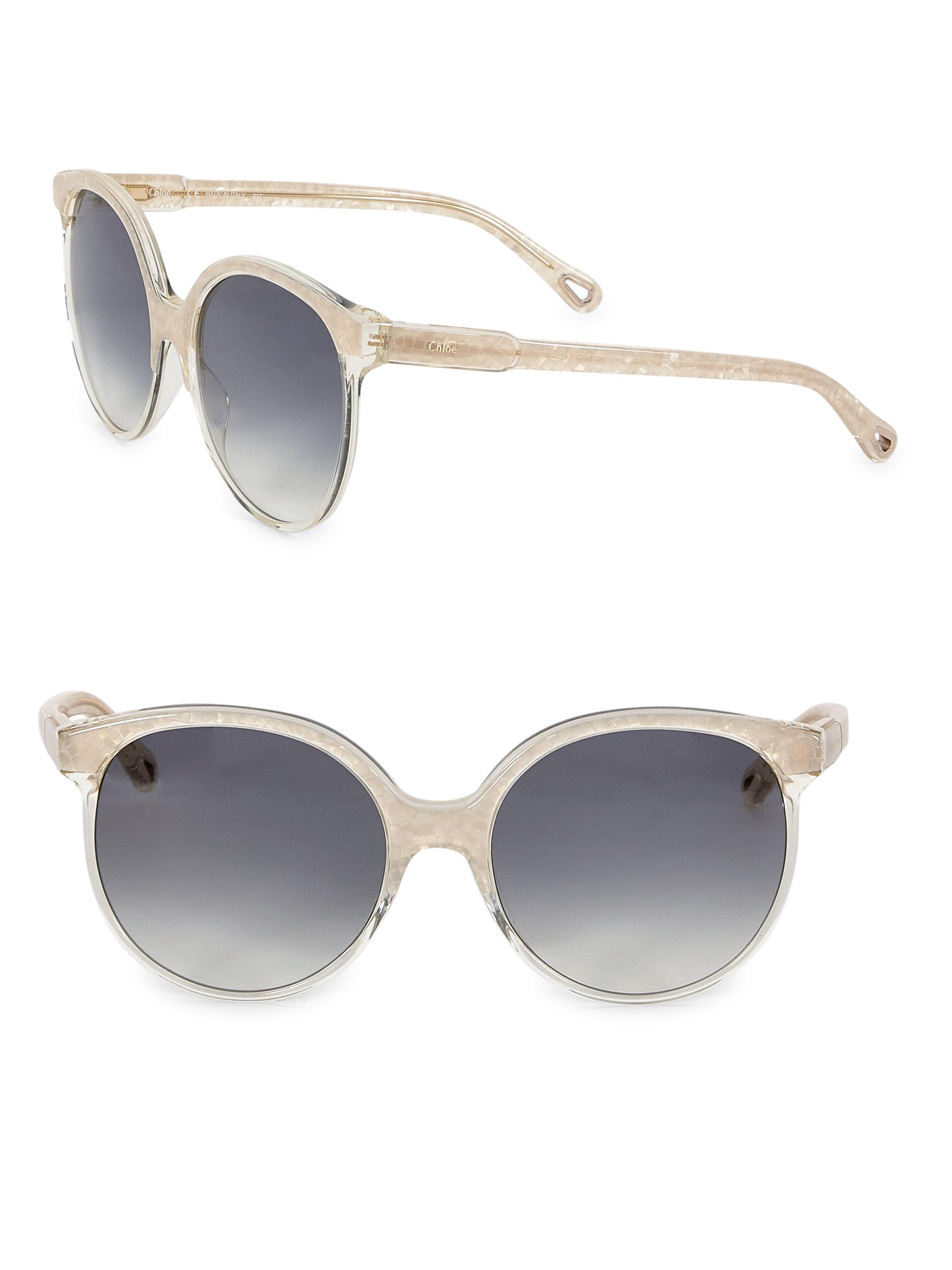 44bf297d4da Chloé Quilly Contemporary Layered Sunglasses in Gray - Lyst
