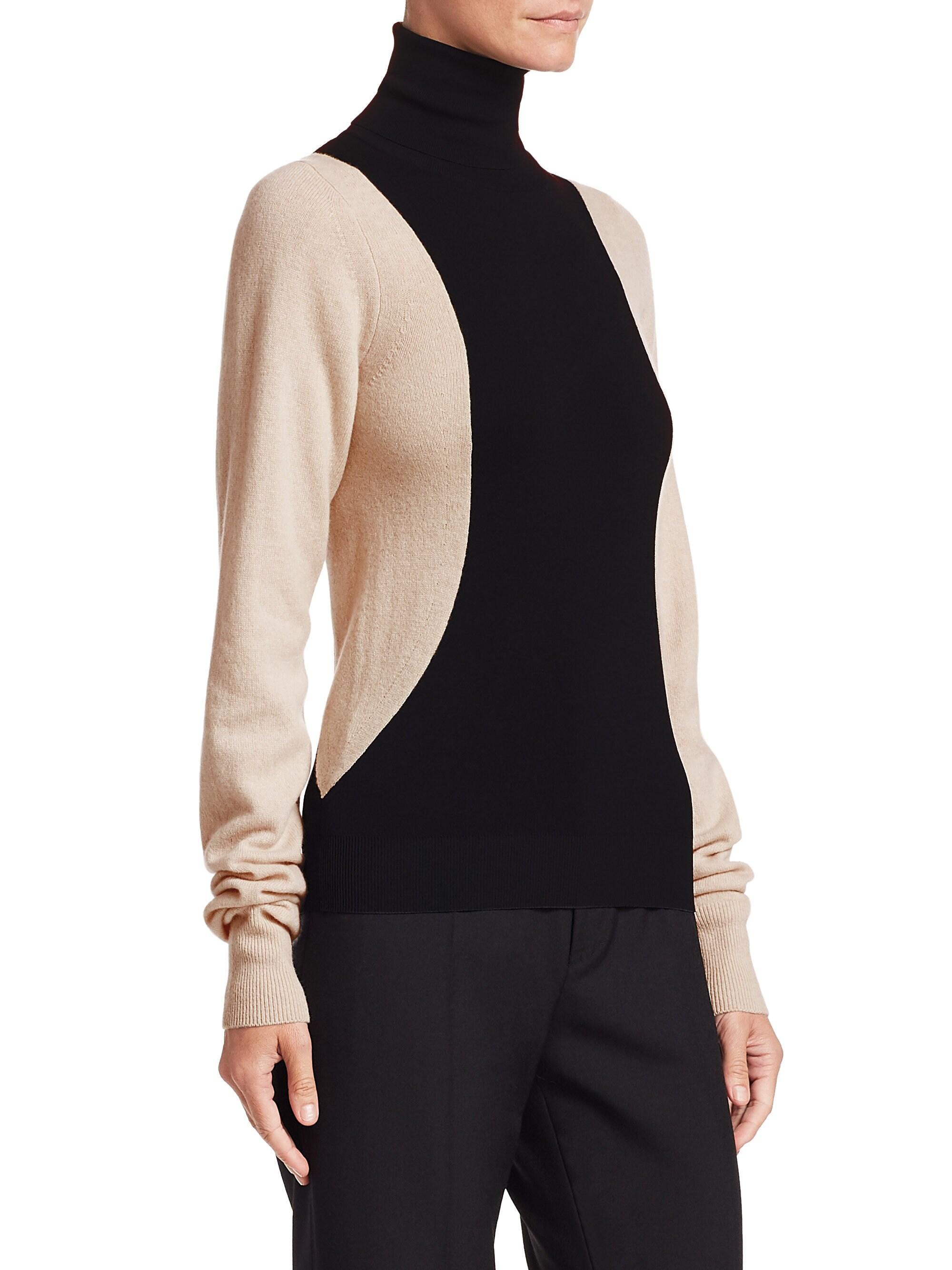 506ef665121 Helmut Lang Colour Block Turtleneck Sweater in Black - Save 48% - Lyst