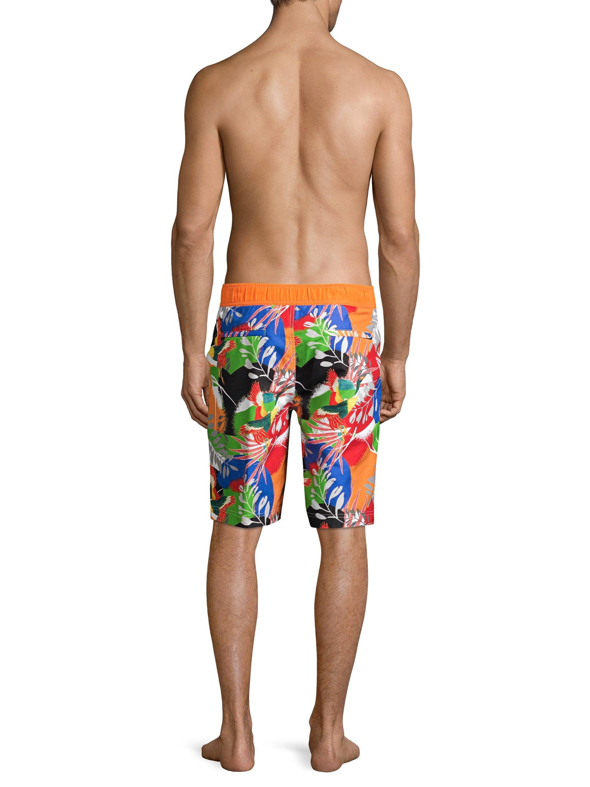 4a4c7f7de4 Lyst - Robert Graham Men's Matanazas Tropical Print Board Shorts - Size 40  for Men
