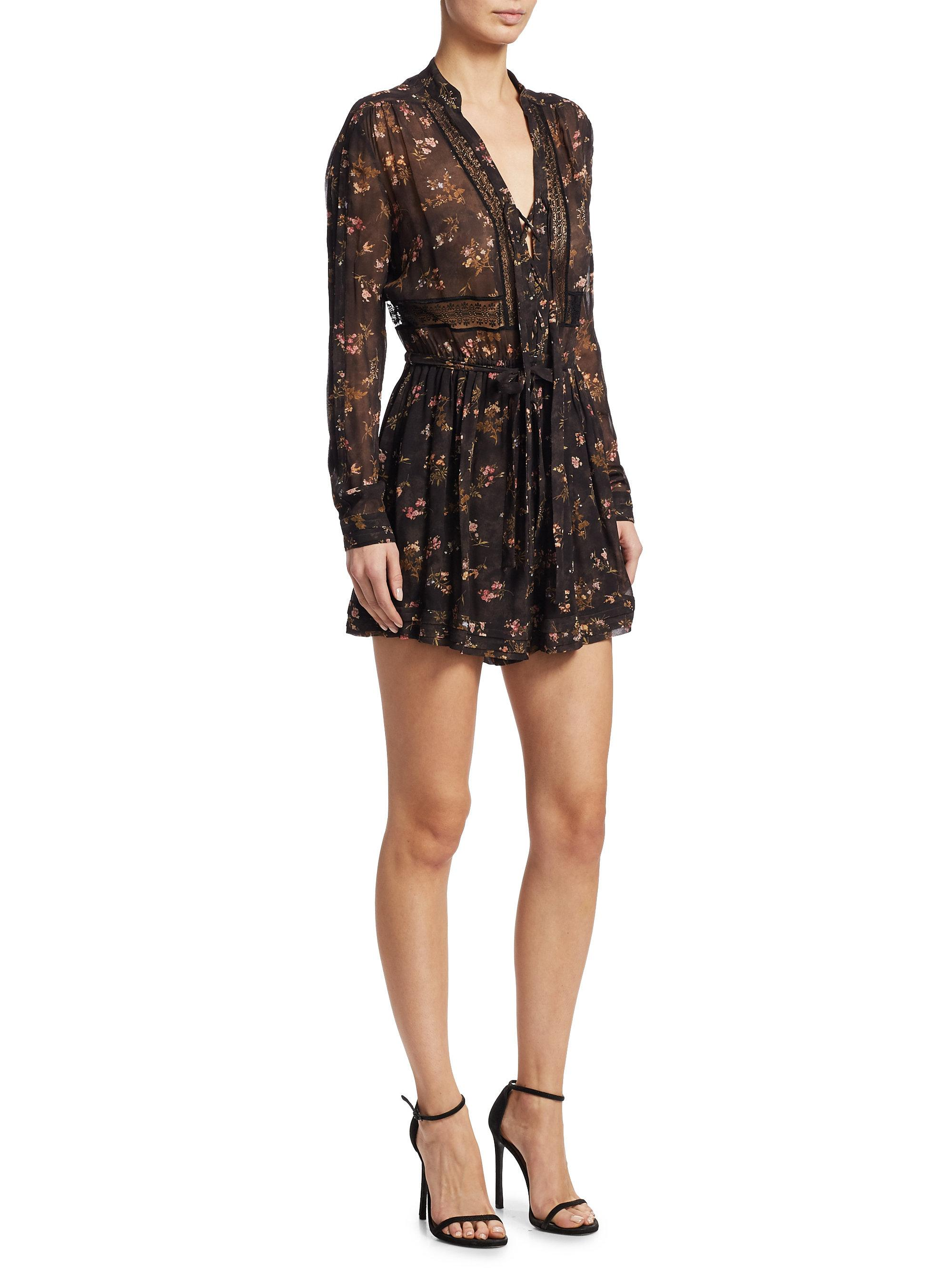 c95a00a31d50 Lyst - Zimmermann Sunny Wrap-tie Playsuit in Black