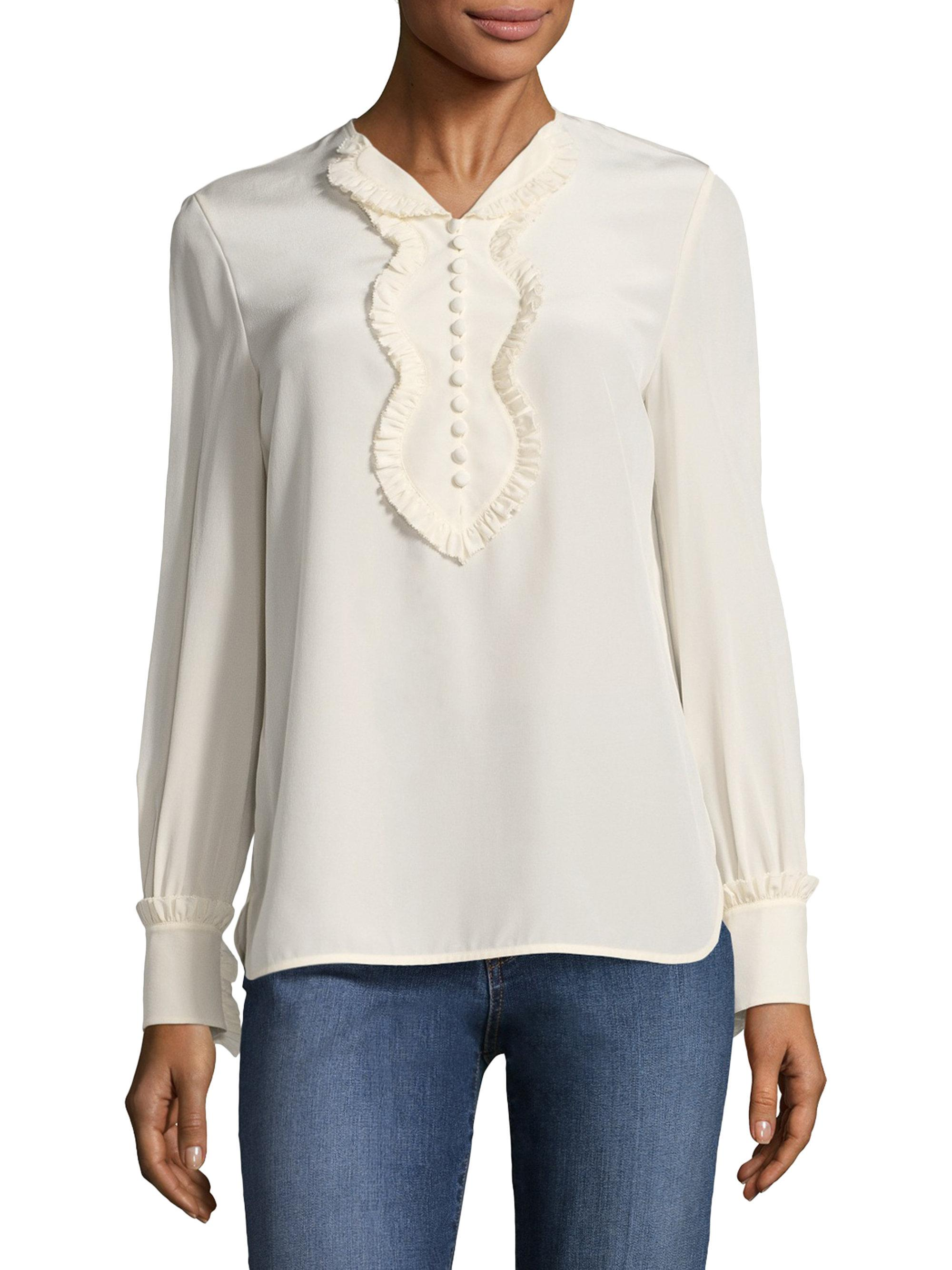 3dc2c09f04a4a Gallery. Previously sold at  Saks Fifth Avenue · Women s White Lace Tanks  Women s Sweetheart Tops ...