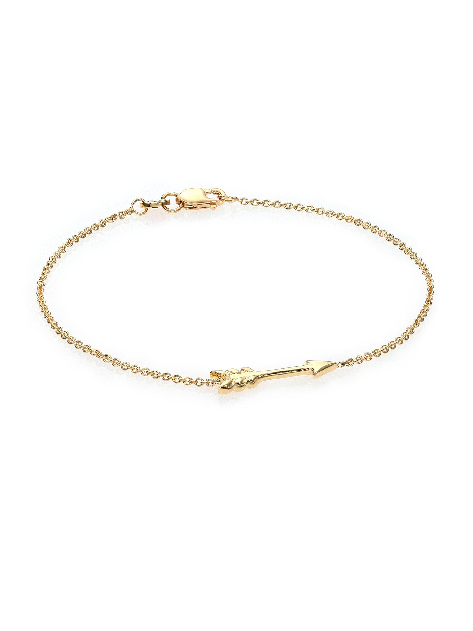 sarah bracelets gold charming arrow bracelet chloe