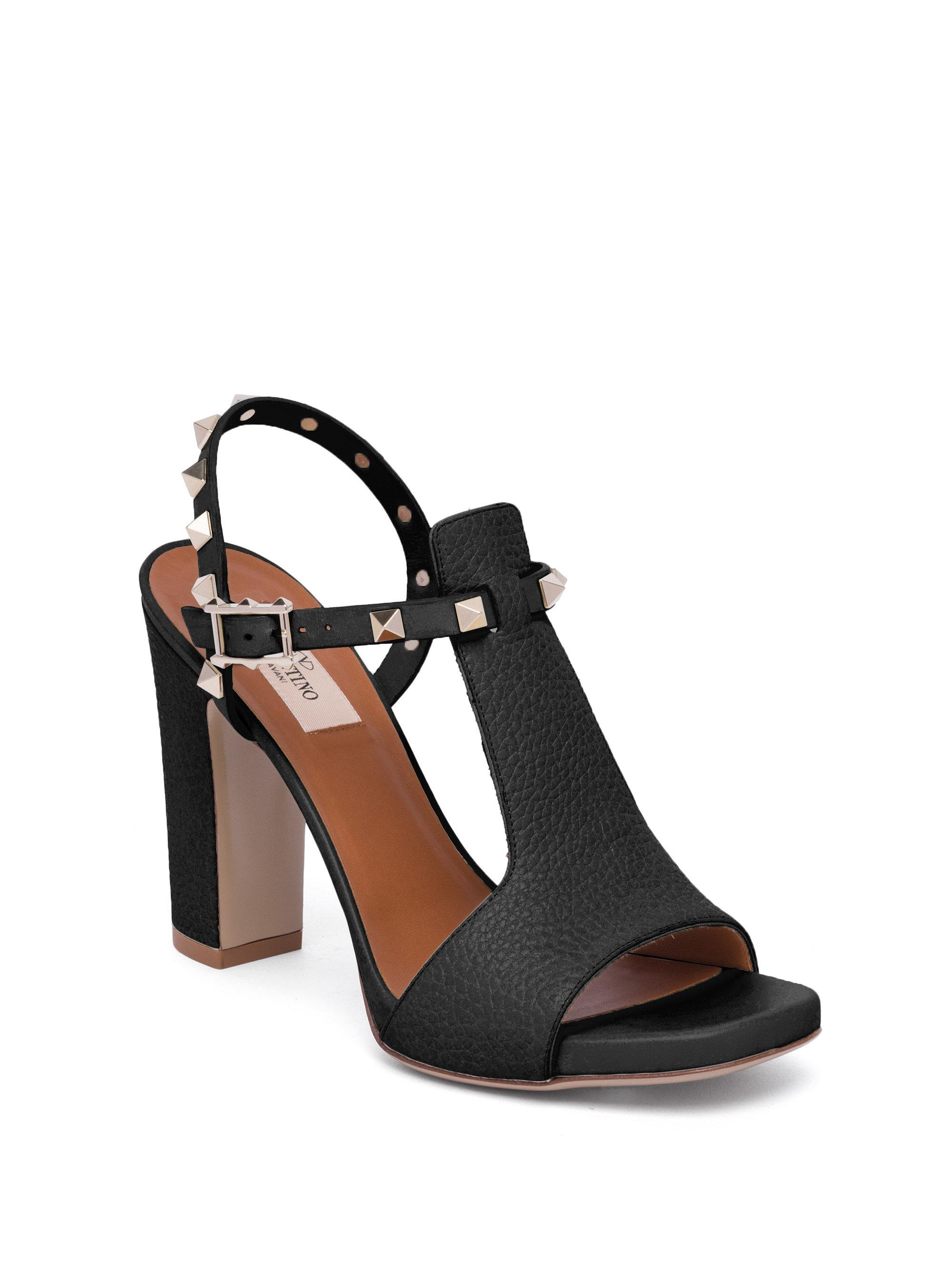 Valentino Leather Cutout Sandals buy cheap purchase DTz6Ty