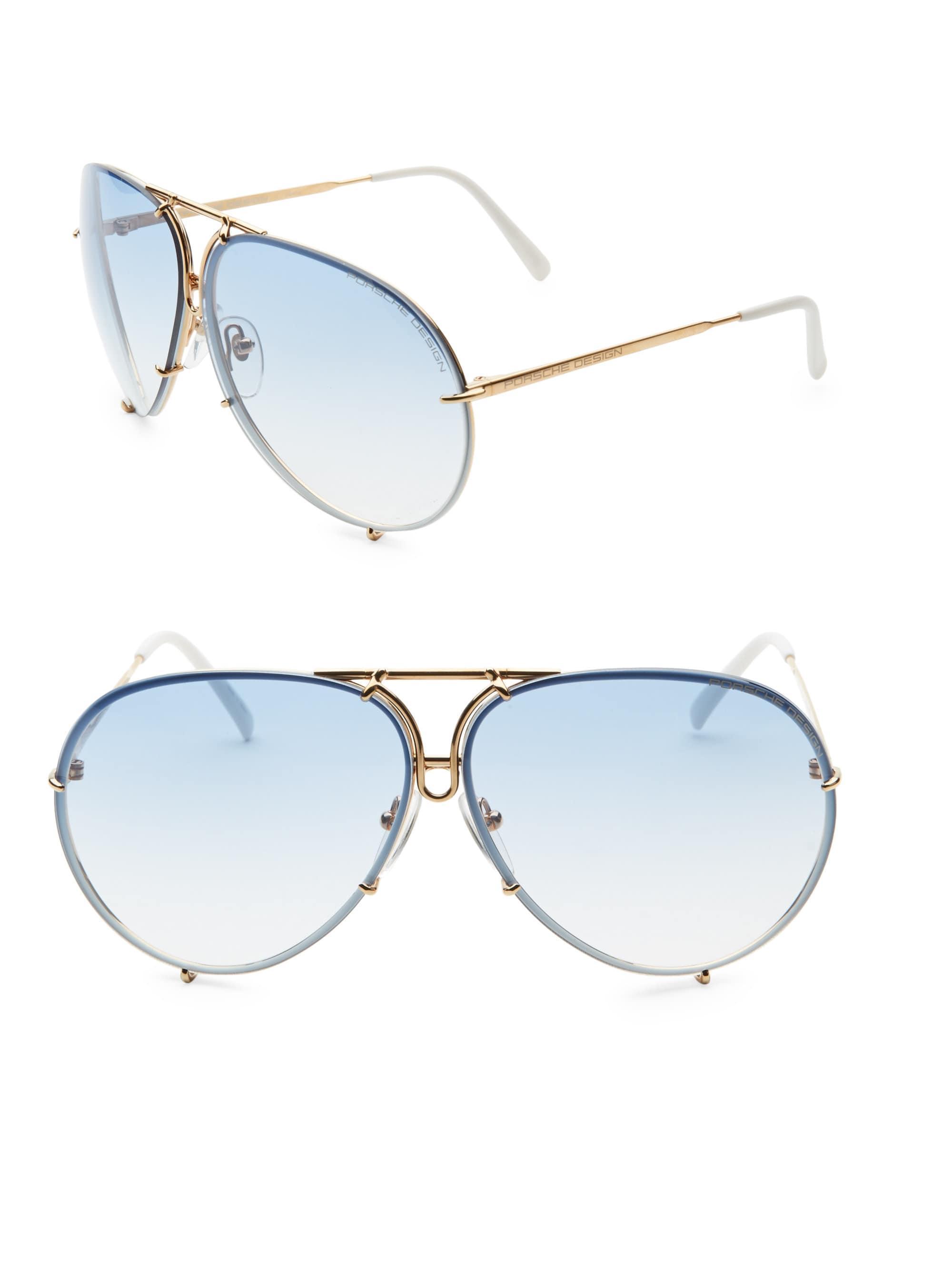 df854f957d0 Lyst - Porsche Design P847 Aviator Gradient Sunglasses in Blue for Men