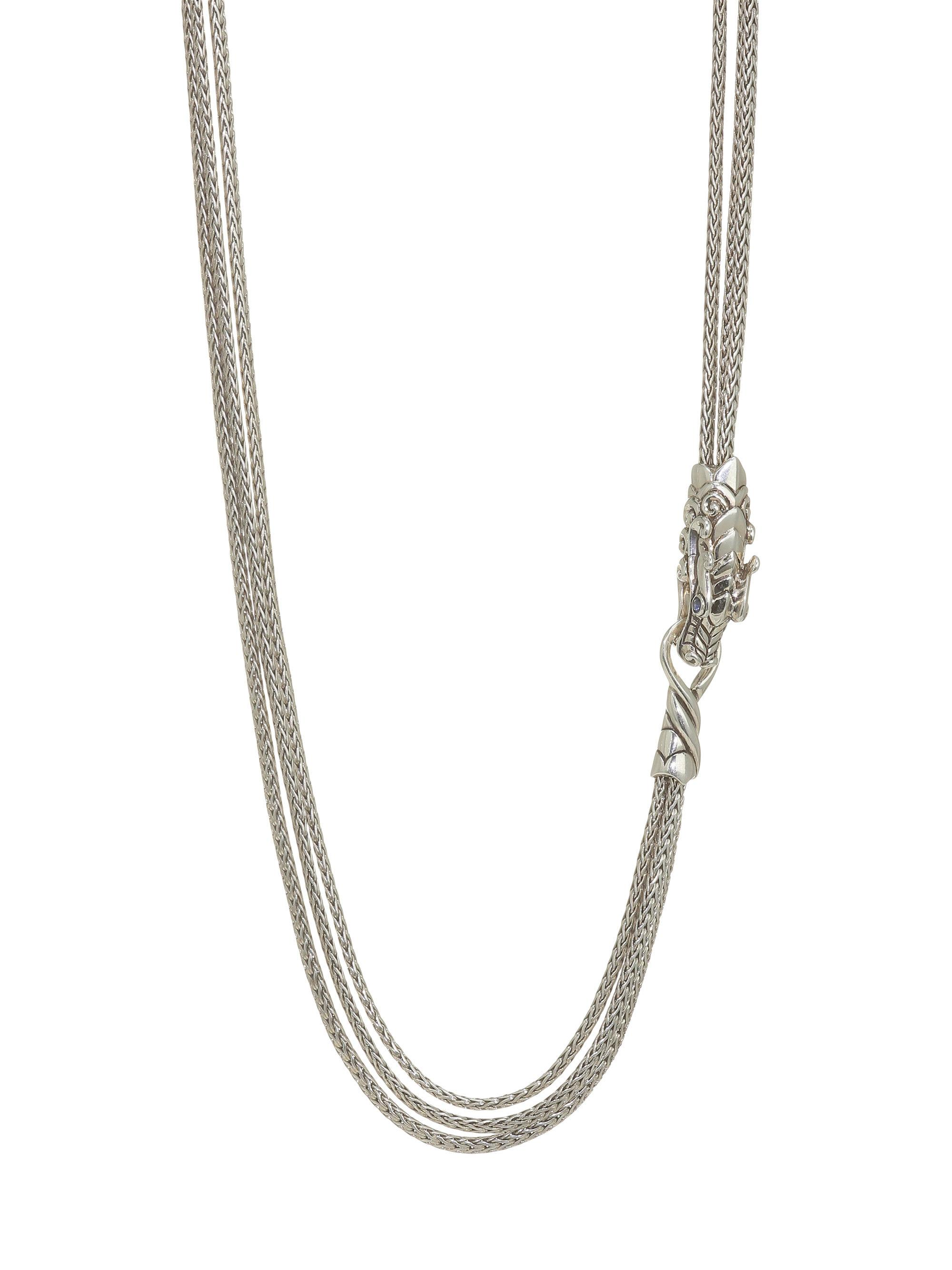 John Hardy Legends Naga Silver Five Row Necklace with Sapphire & Spinel s8xwmOuTYe