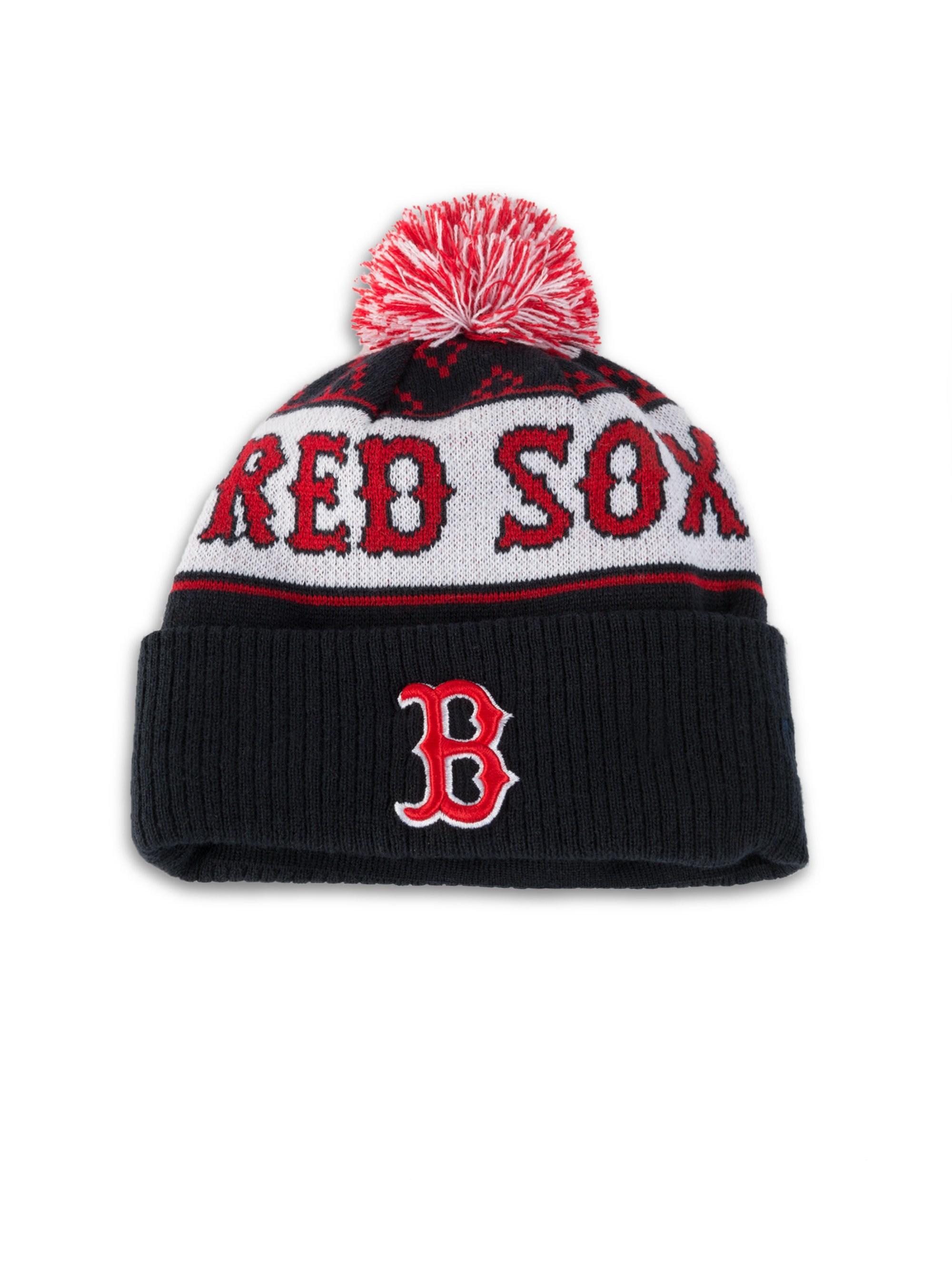 dad078c9624c73 Marcelo Burlon - Men's Boston Red Sox Pom-pom Beanie - Red Multi for Men.  View fullscreen