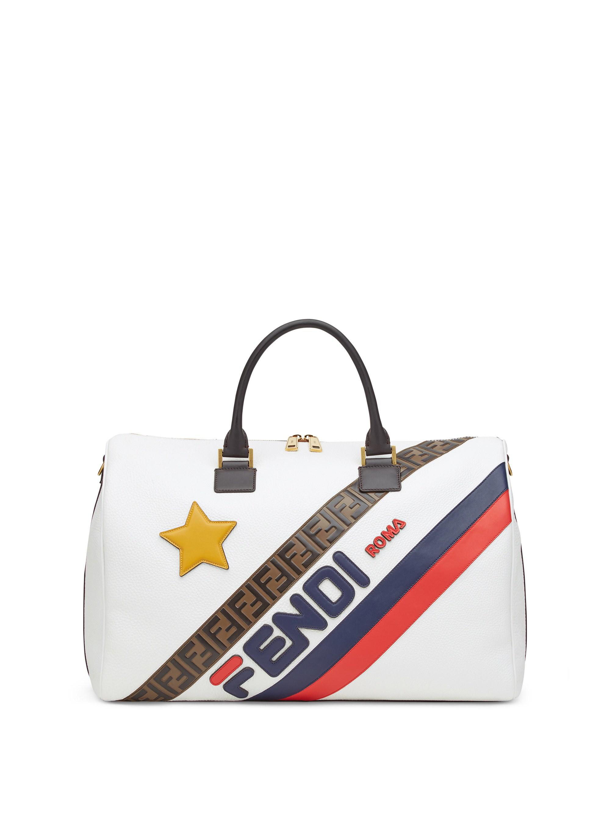 fbc24084bf40 Fendi - White Mania Leather Stripe Tote - Lyst. View fullscreen
