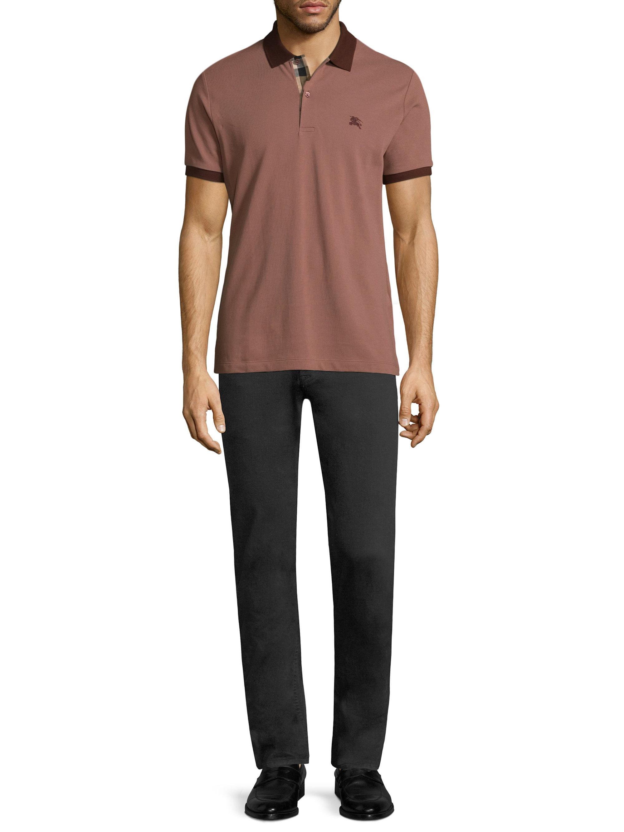0b2796d8ffc1 Lyst - Burberry Lawford Core Oxford Short Sleeve Cotton Polo for Men