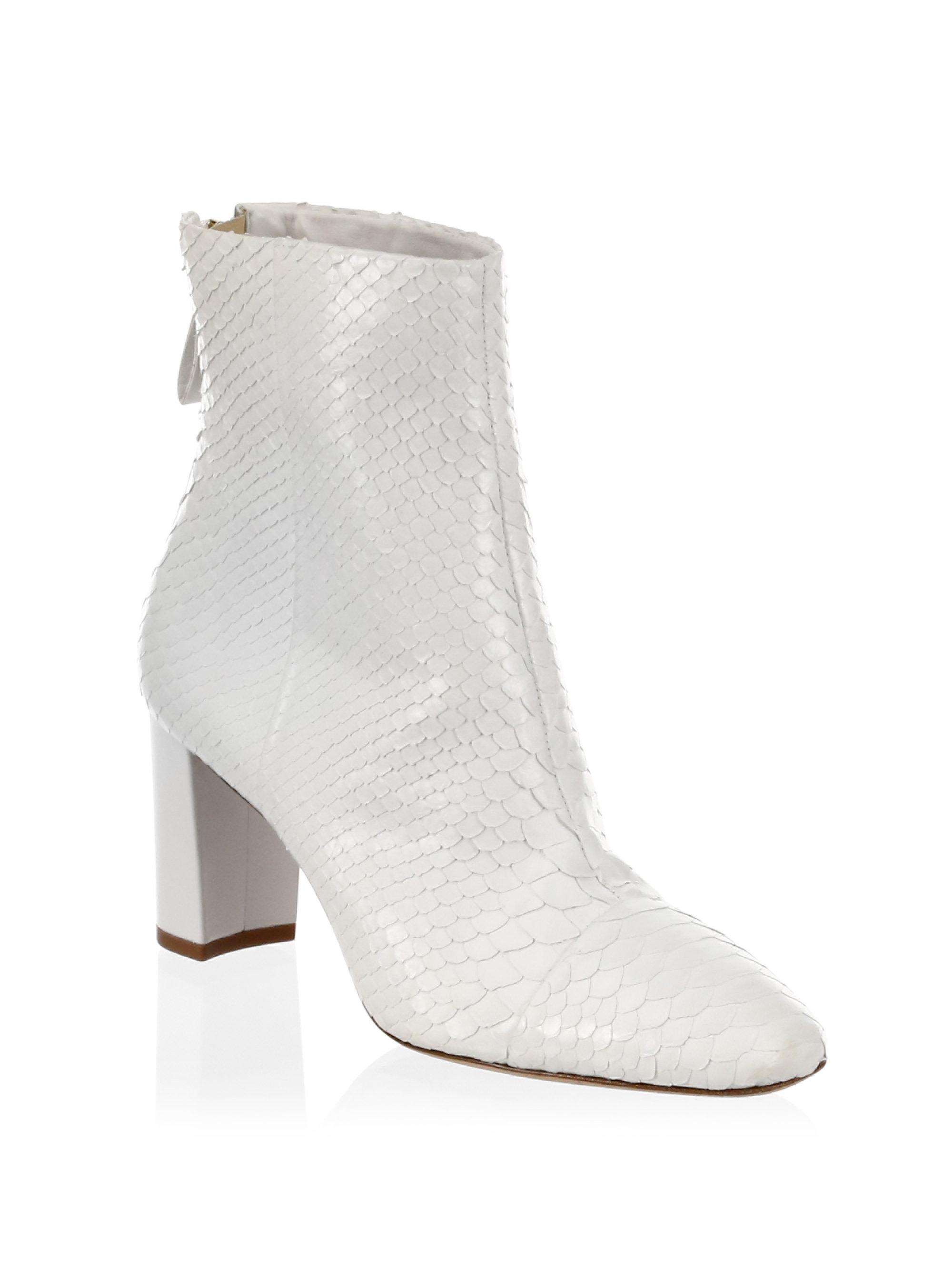 tie detail heeled booties - White Alexandre Birman NqerUoSJr