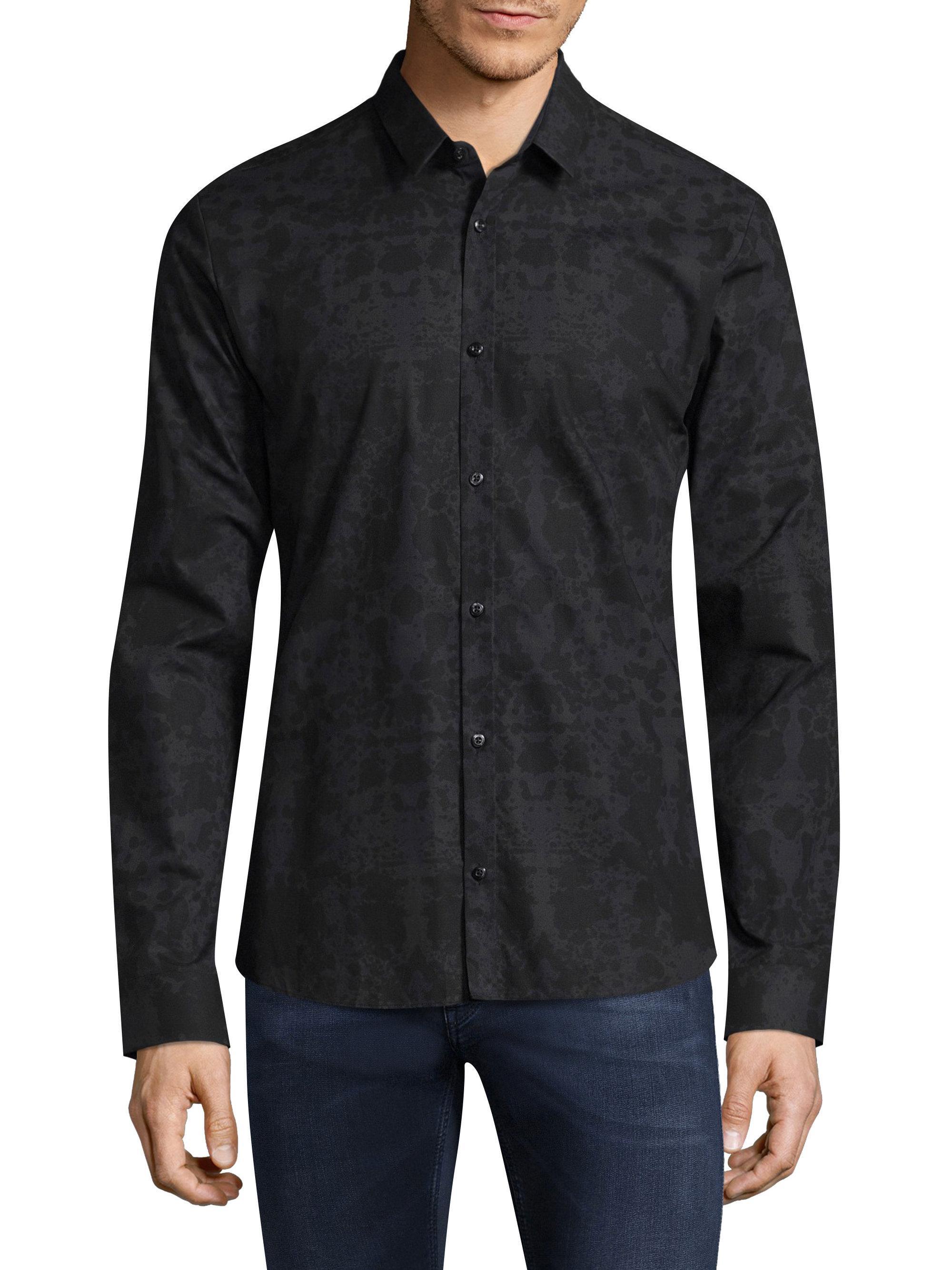 Lyst Hugo Ero Regular Fit Cotton Button Down Shirt In
