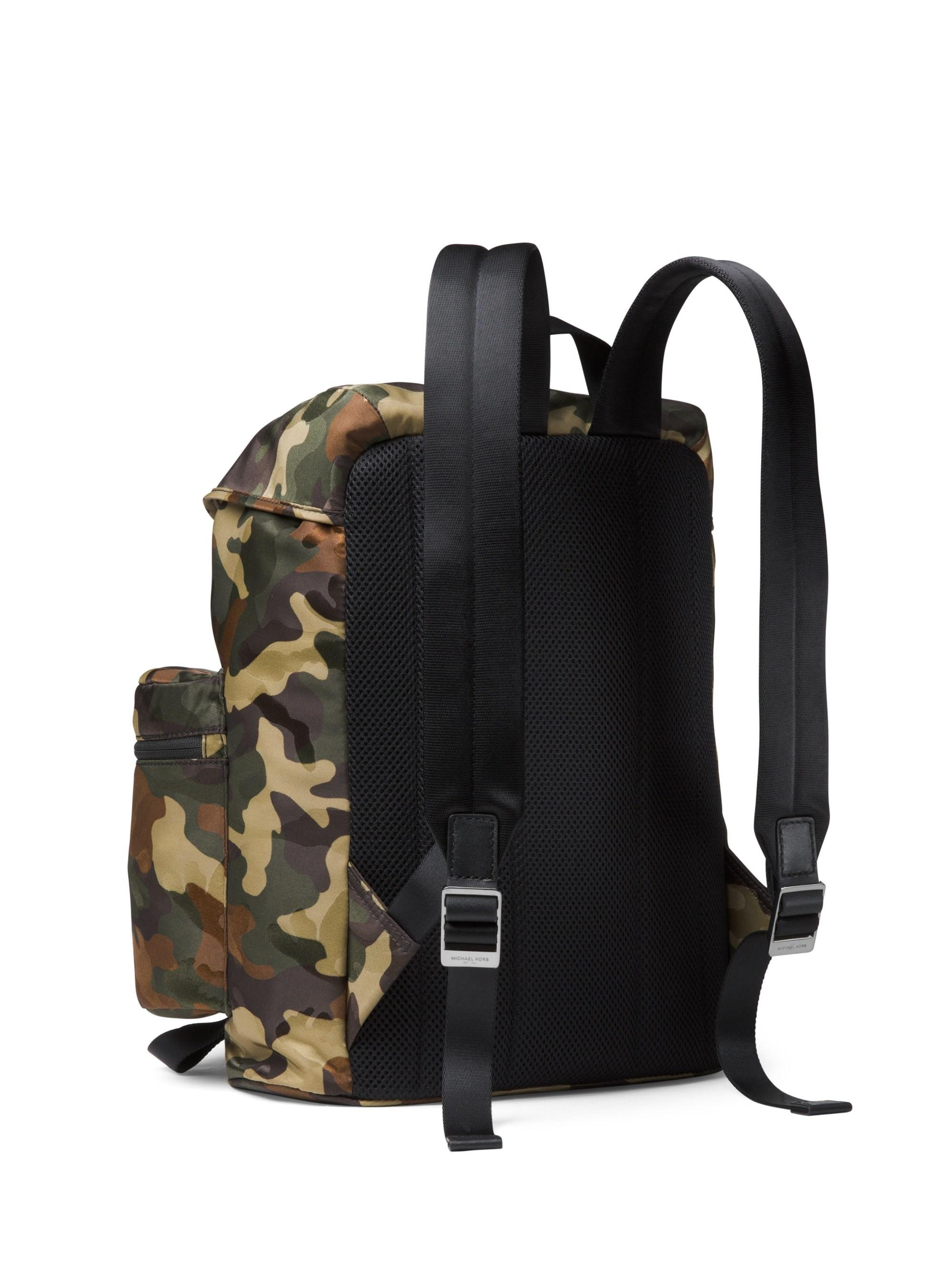 414cab1a1d9d Michael Kors Kent Sport Zip Camo Backpack in Green for Men - Lyst