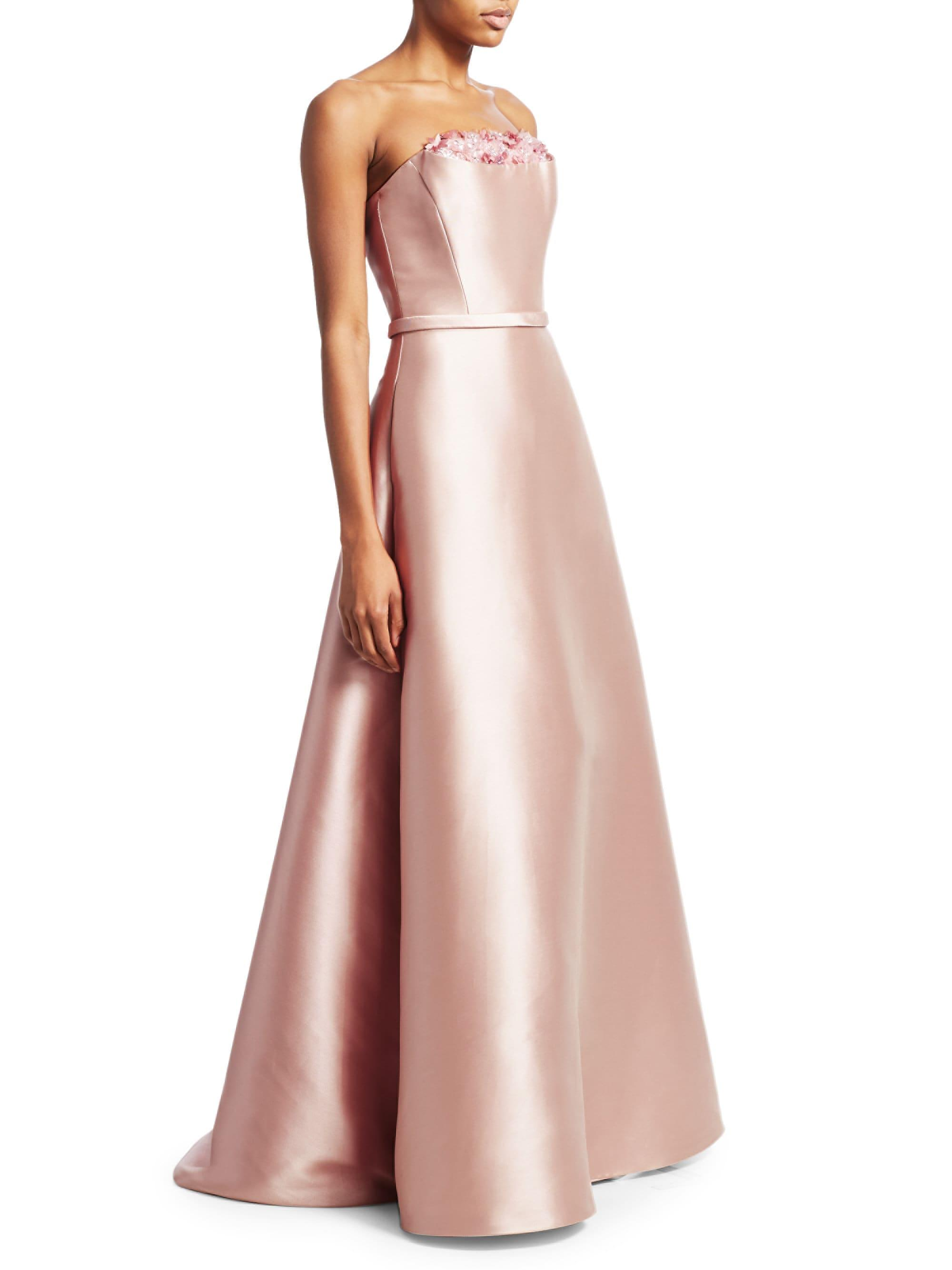 c35f7ae53e Lyst - THEIA Women s Crumb Catcher Strapless Gown - Blush - Size 16 ...
