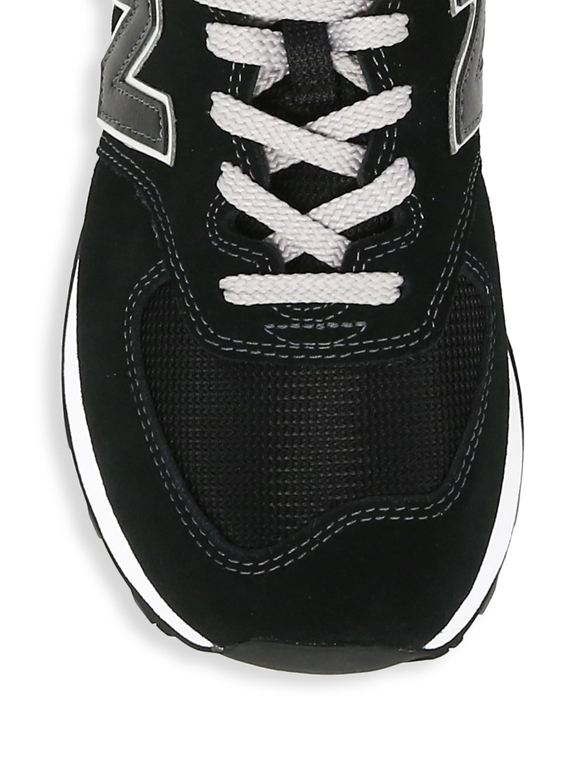 d0b1db0ab774e New Balance Men's Classic 574 Suede Lace Up Sneakers in Black for Men -  Save 2% - Lyst