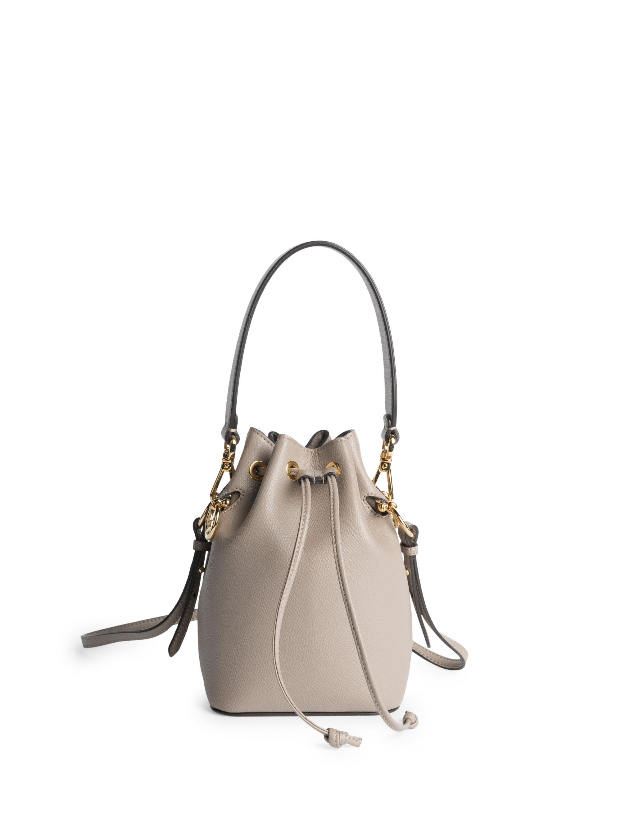 351018b6c5f9 Fendi Women s Mon Tresor Leather Bucket Bag - Peoni - Lyst