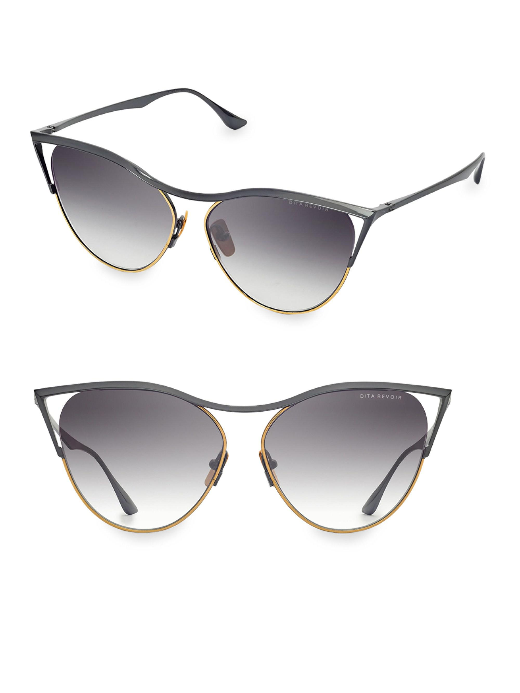f8a24bdf0fb Dita Eyewear Revoir 59mm Cat-eye Sunglasses in Gray - Lyst