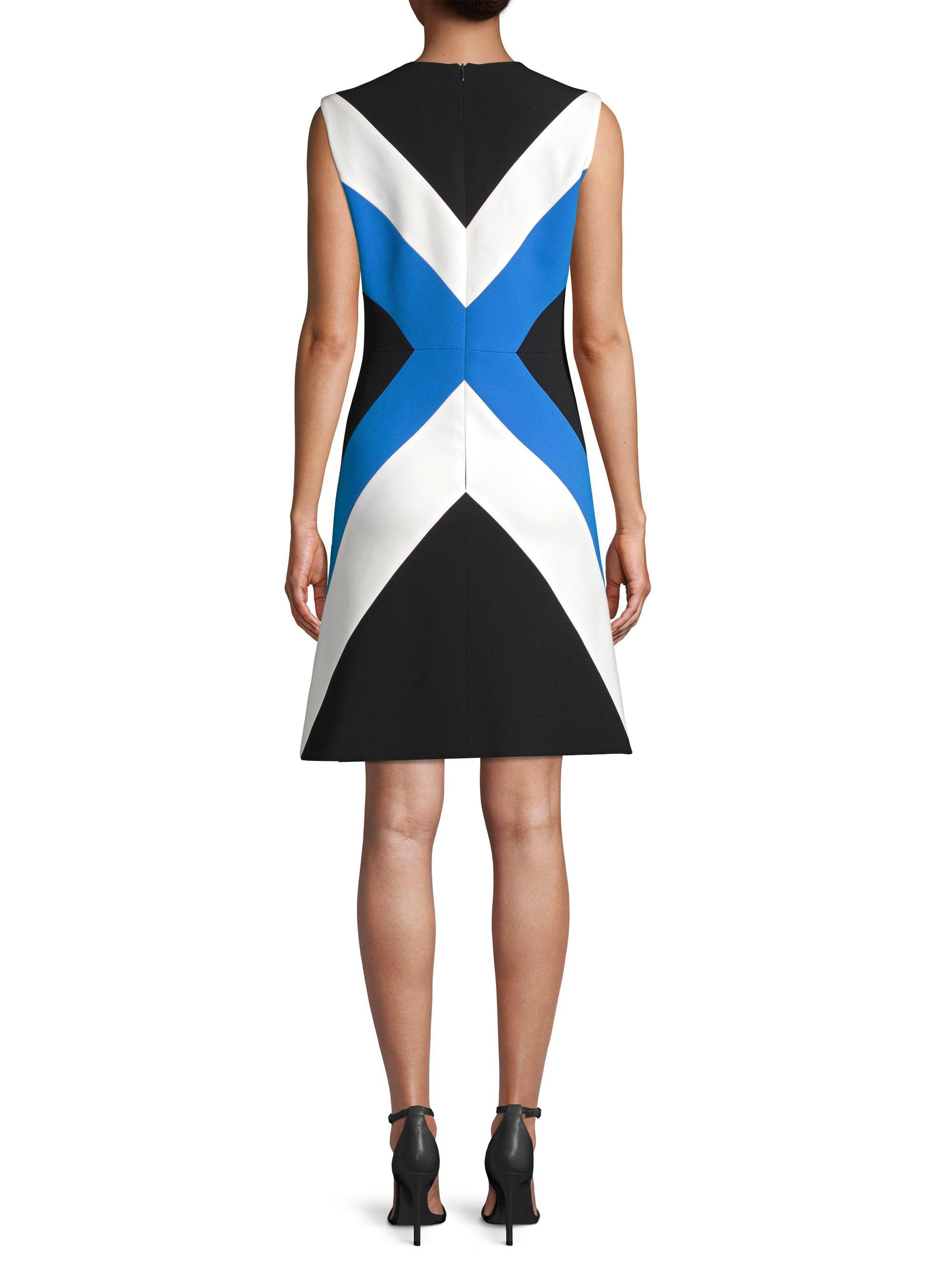 2e97452ffbc0 ESCADA Chevron Stripe Sheath Dress in Black - Lyst