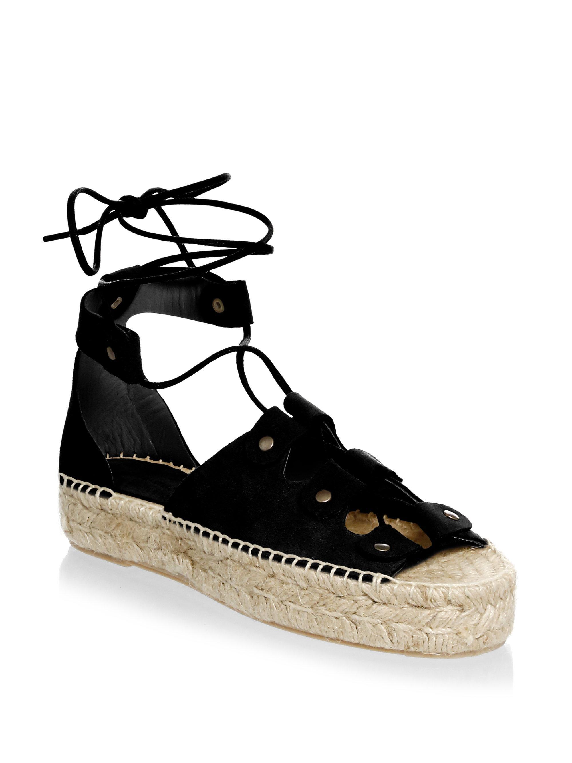 835c9ba6f0e Lyst - Soludos Ghillie Suede Platform Espadrille Sandals in Black