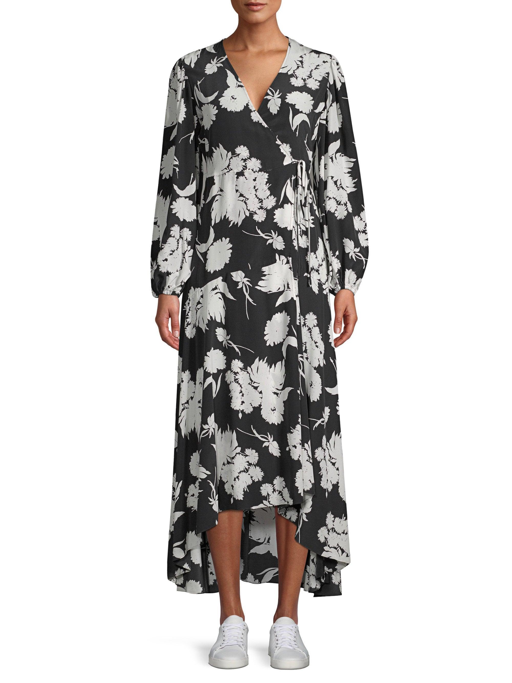 537607ed70 Ganni Kochhar Silk Hi-lo Maxi Dress in Black - Save 89% - Lyst