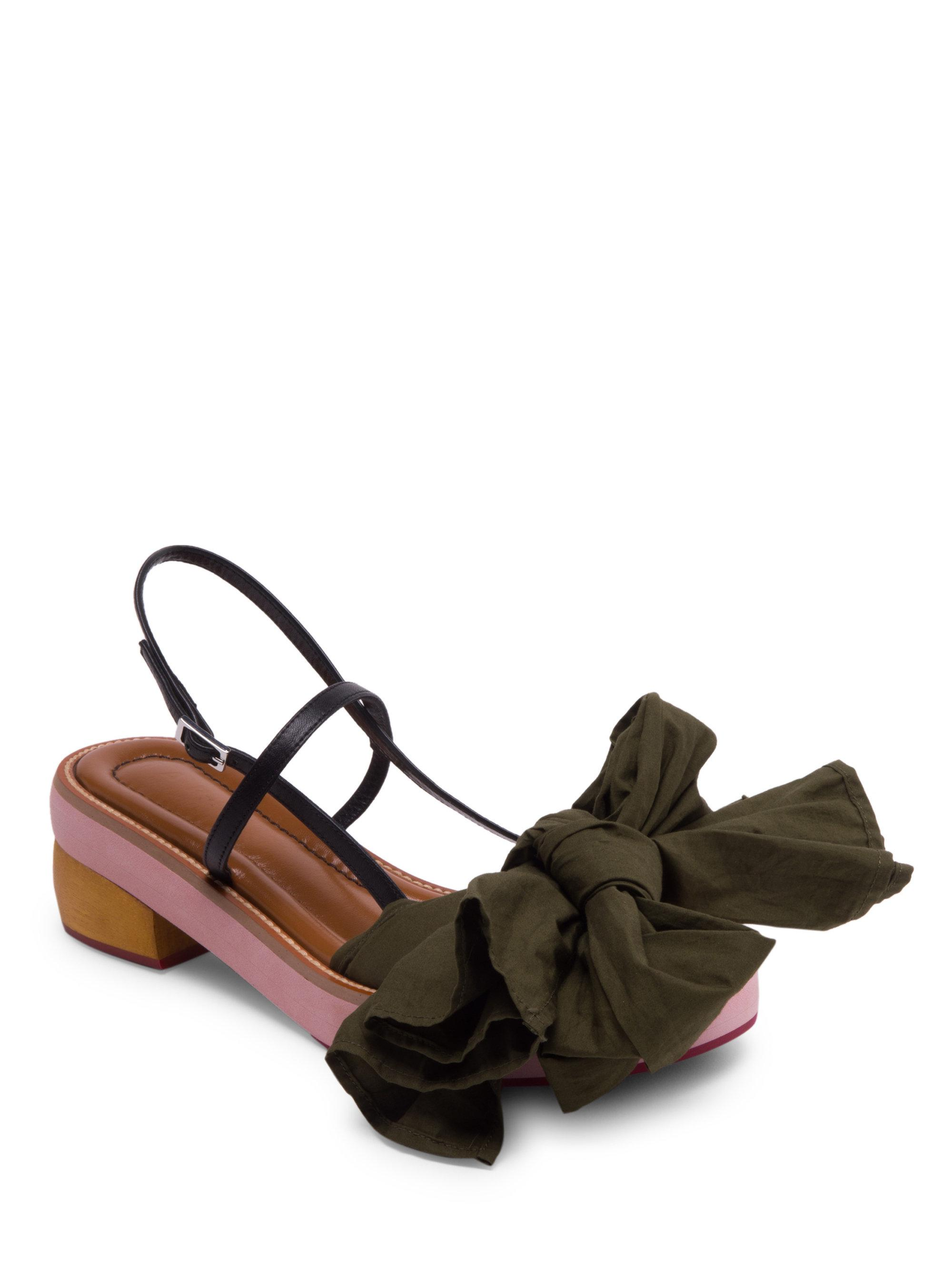 find great sale online Marni Leather Bow-Accented Sandals free shipping footlocker finishline bMJoSRxMs