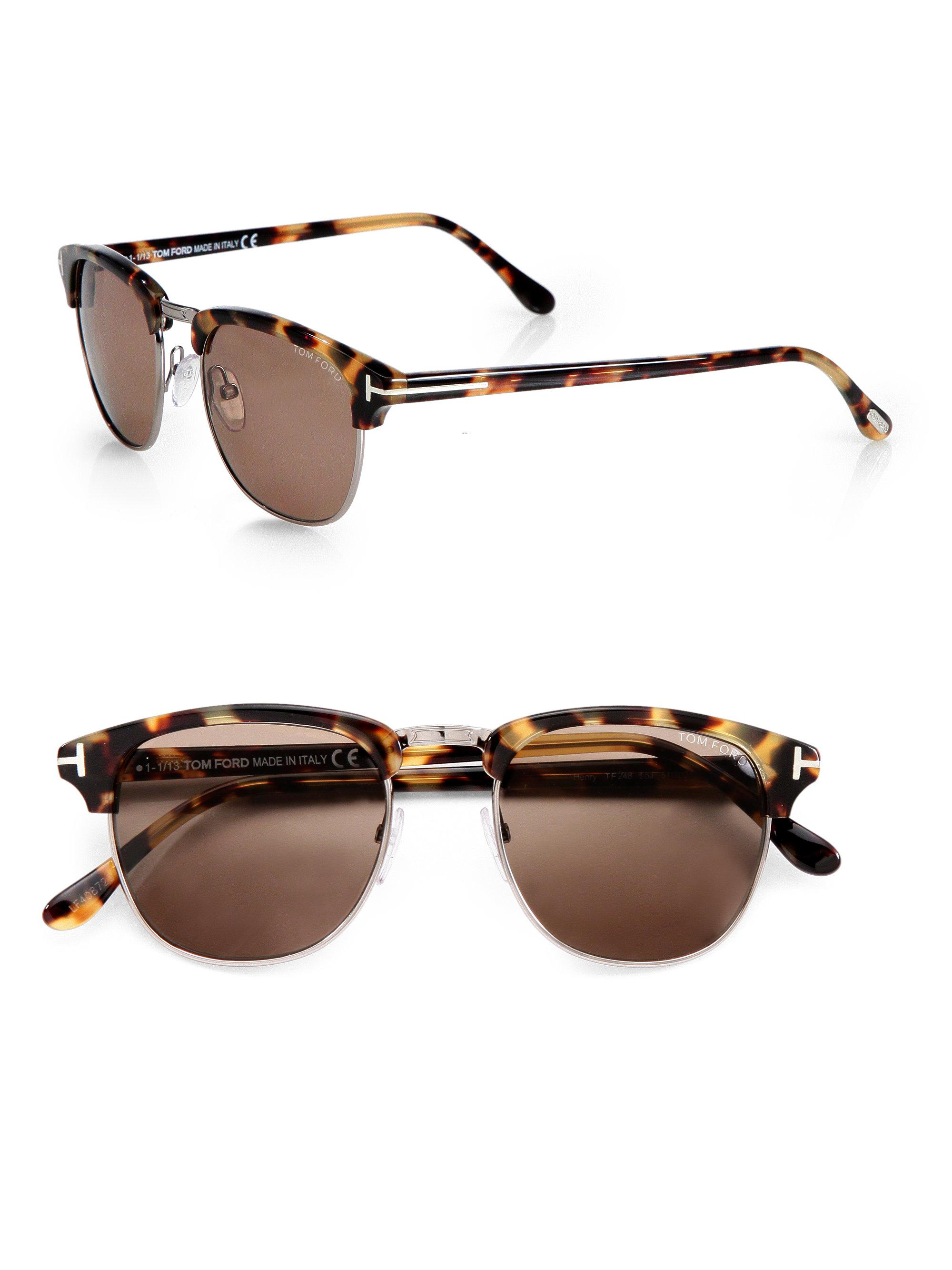 07f7de9c572 Lyst - Tom Ford Henry Retro Sunglasses in Brown for Men