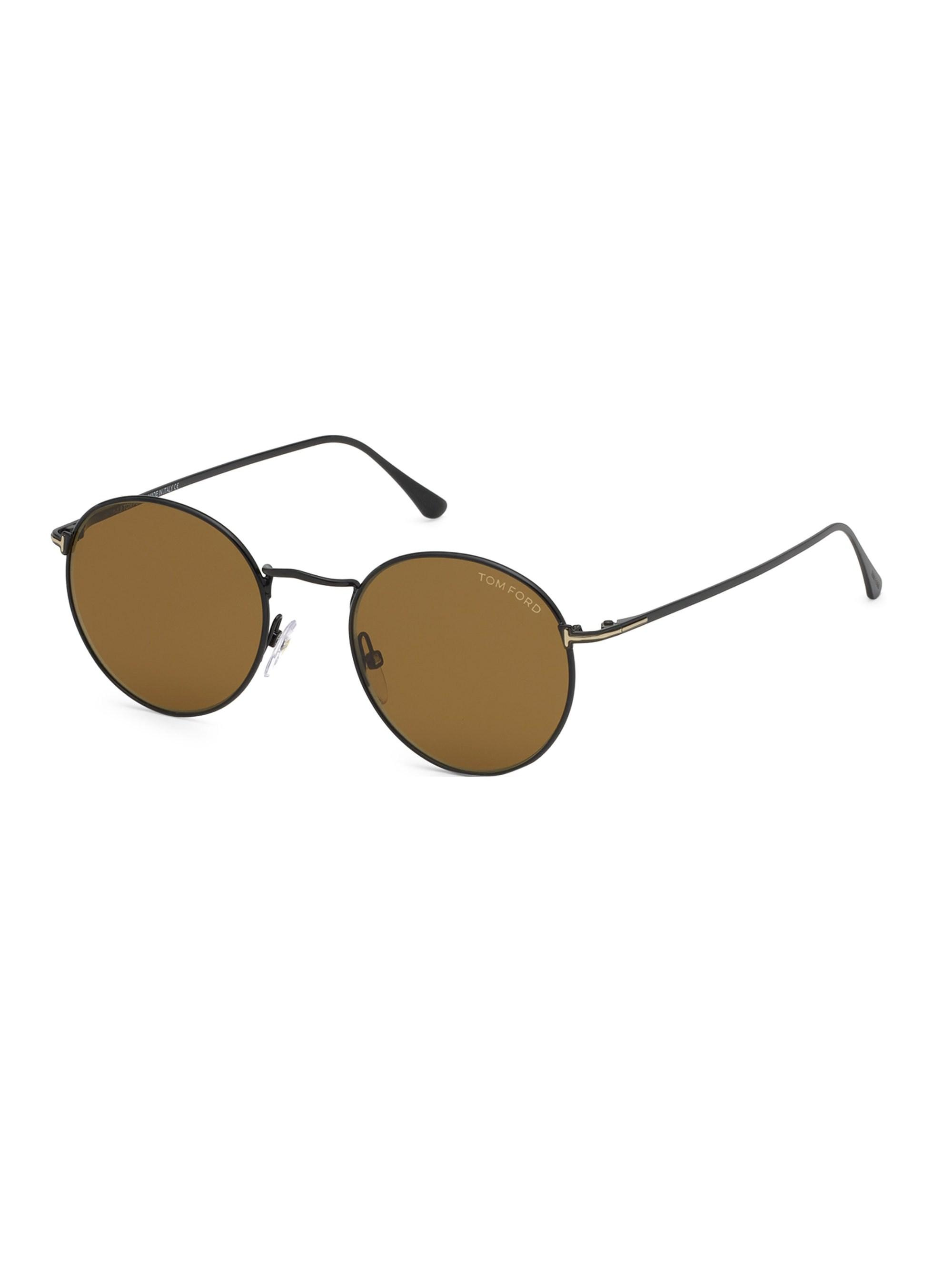 ff311f9988 Tom Ford - Brown Ryan 52mm Round Sunglasses for Men - Lyst. View fullscreen