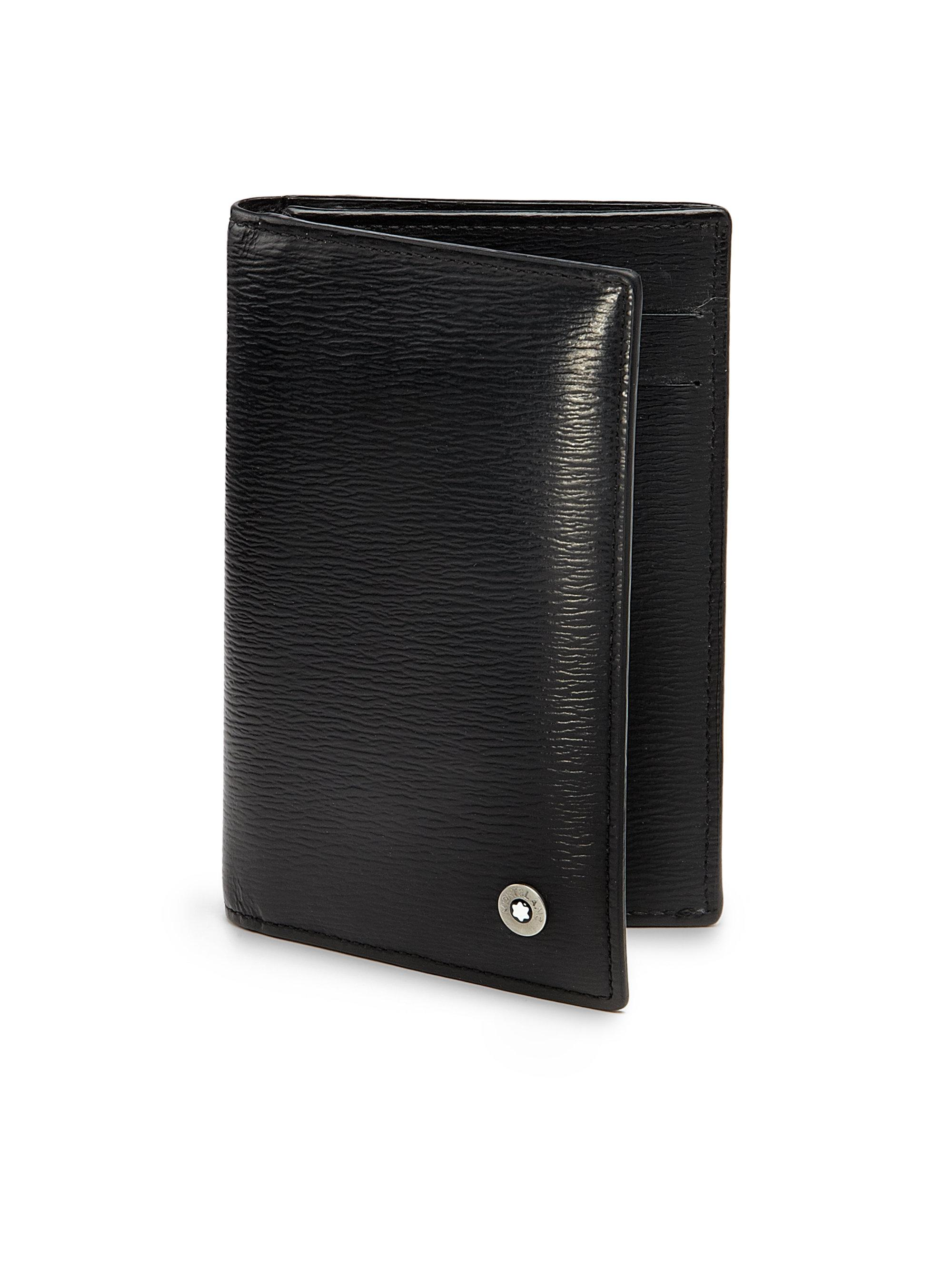 Lyst montblanc business card holder in black for men montblanc mens black business card holder reheart Choice Image