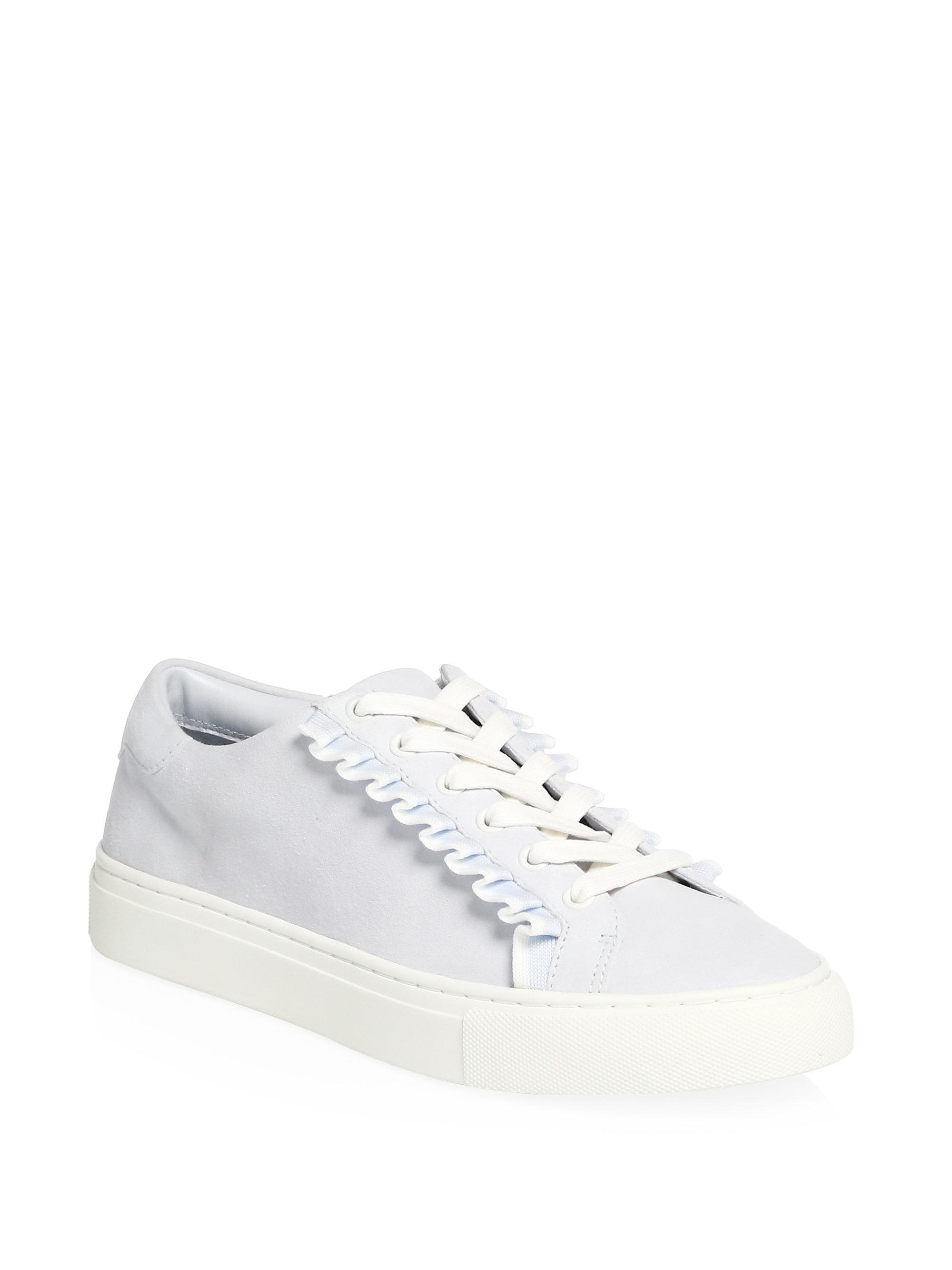 wholesale price for sale Tory Burch Ruffle Low-Top Sneakers free shipping enjoy cheap authentic brand new unisex for sale miRBblH