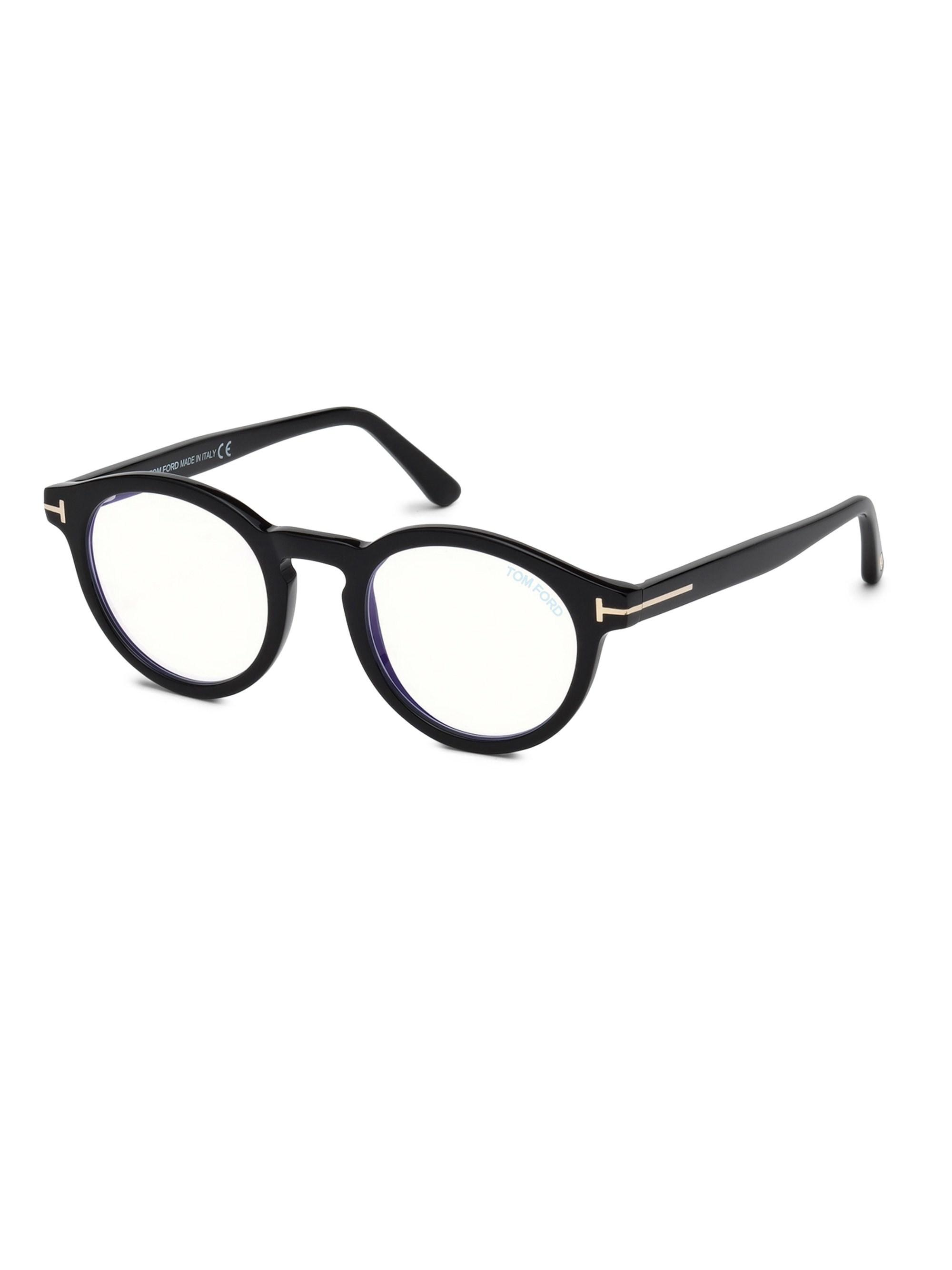 983444f8c2 Tom Ford - Black 48mm Round Optical Glasses for Men - Lyst. View fullscreen