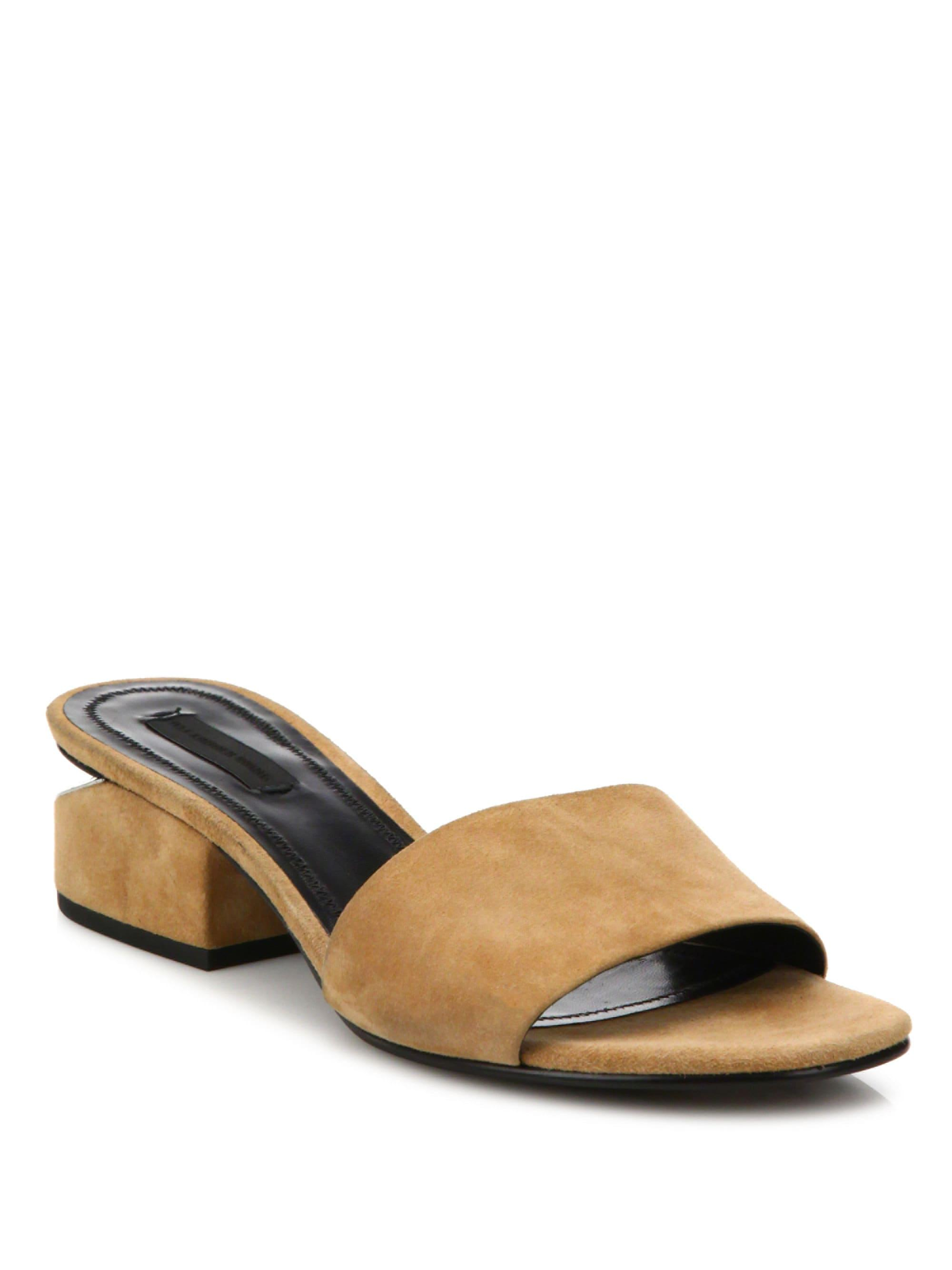 2fc3e276f4a Alexander Wang. Women s Lou Suede Low-heel Slides
