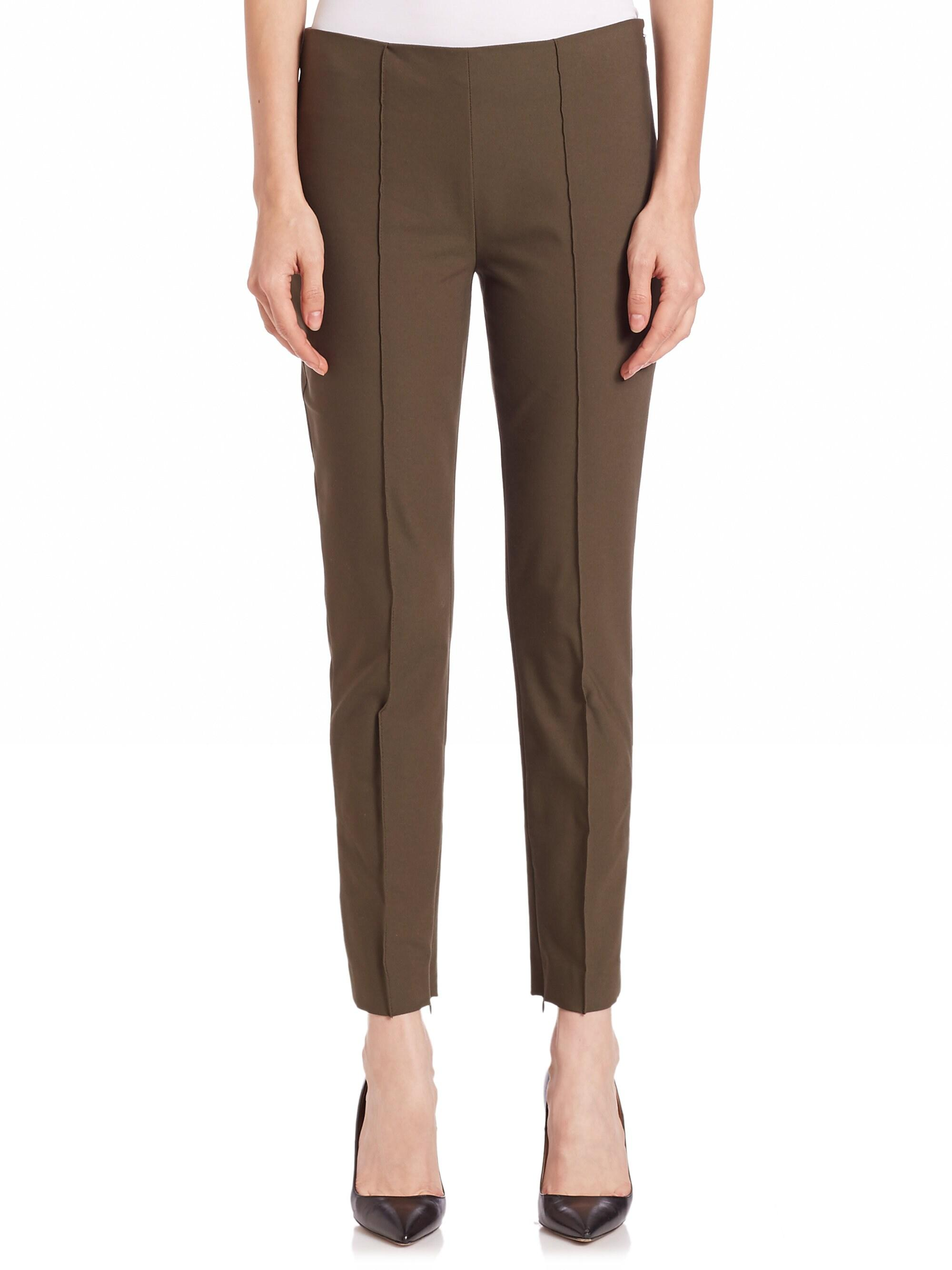55a30df2d0 Theory Women's Alettah Approach Pants - New Ivory in Green - Lyst