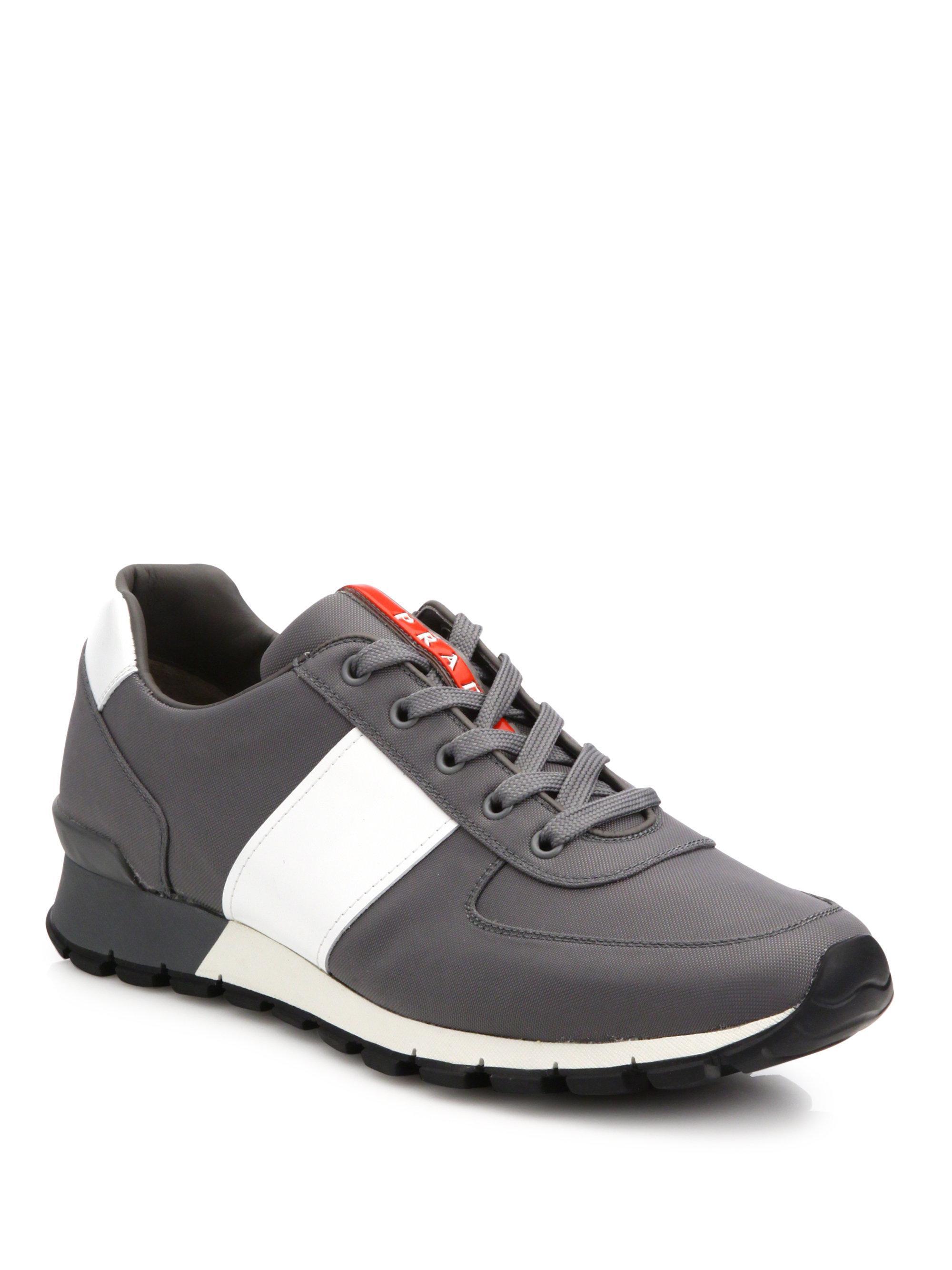 PradaSpazzolato Trainer Sneakers ZsDTELB