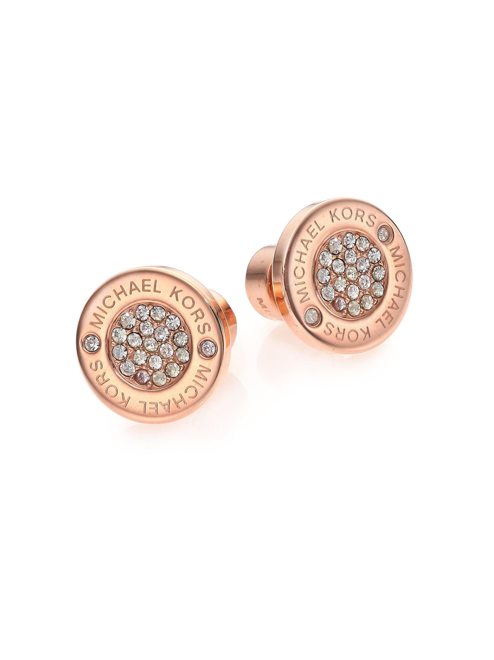 3c7d8d4c6869 Michael Kors Logo Rose Gold Stud Earrings - Best All Earring Photos ...