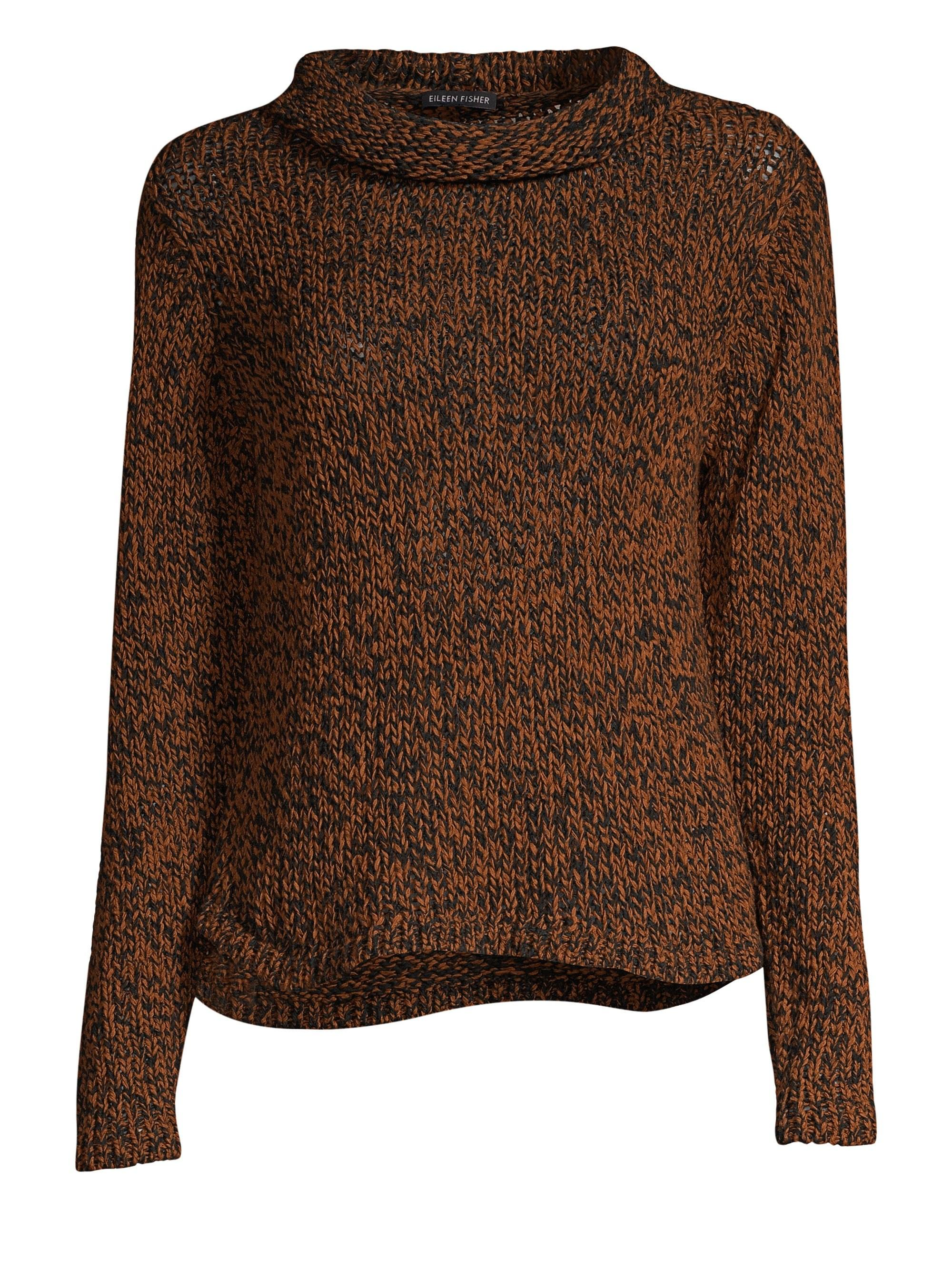 0fa5ef9a935895 Eileen Fisher - Brown Rolled Neck Sweater - Lyst. View fullscreen
