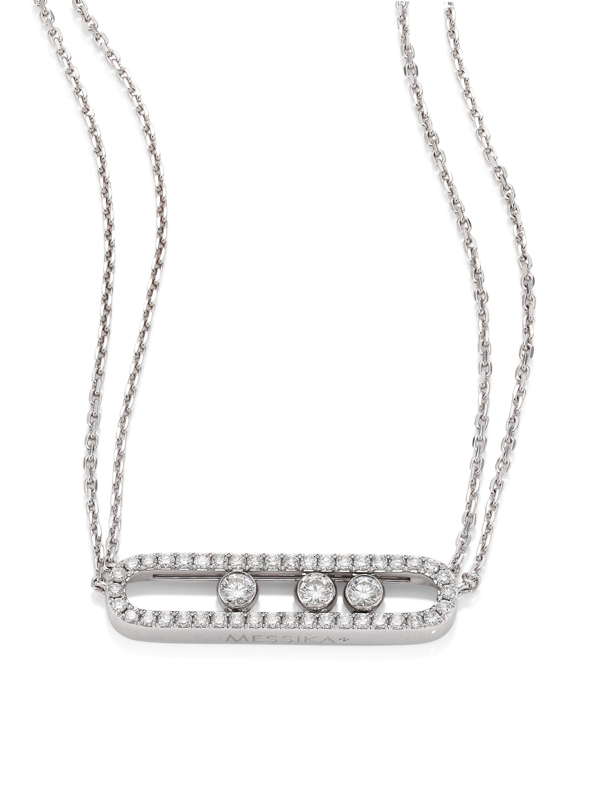 Move 18-karat Rose Gold Diamond Necklace - one size Messika TzWrjggF2
