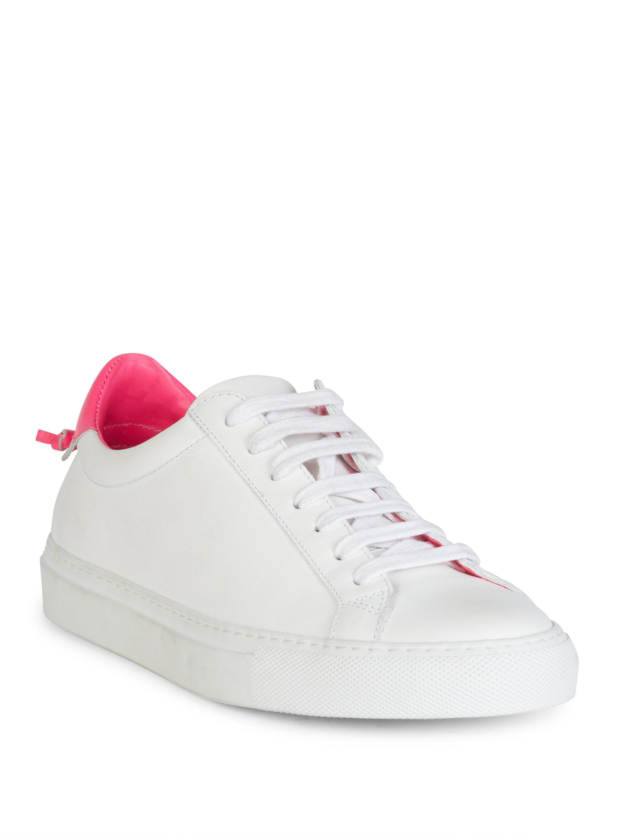 Sneakers smooth leather Logo pink white Givenchy tqjuuXi1