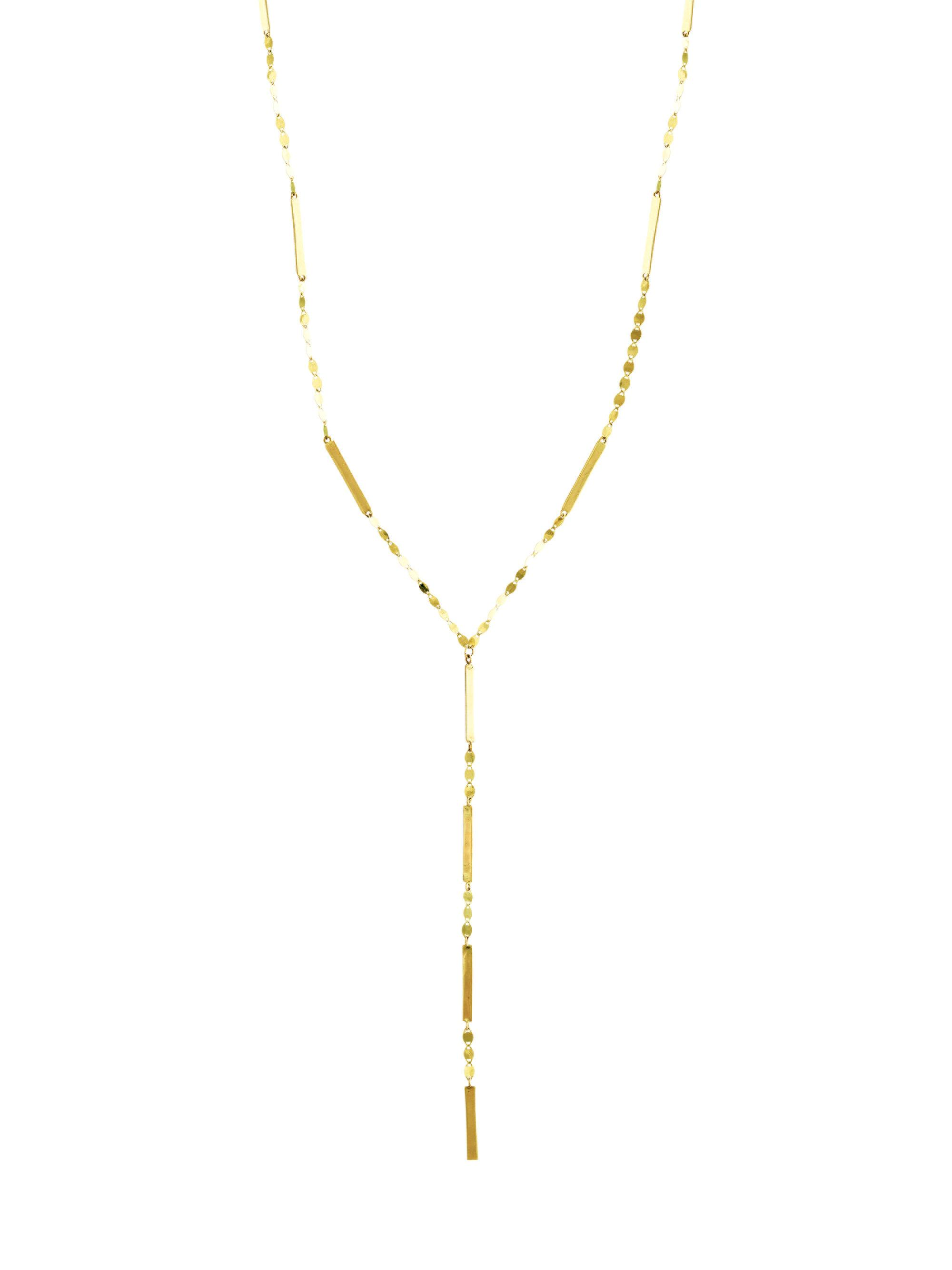 Lana Jewelry Diamond Double Bar Necklace in 14K Yellow Gold 7vvRn