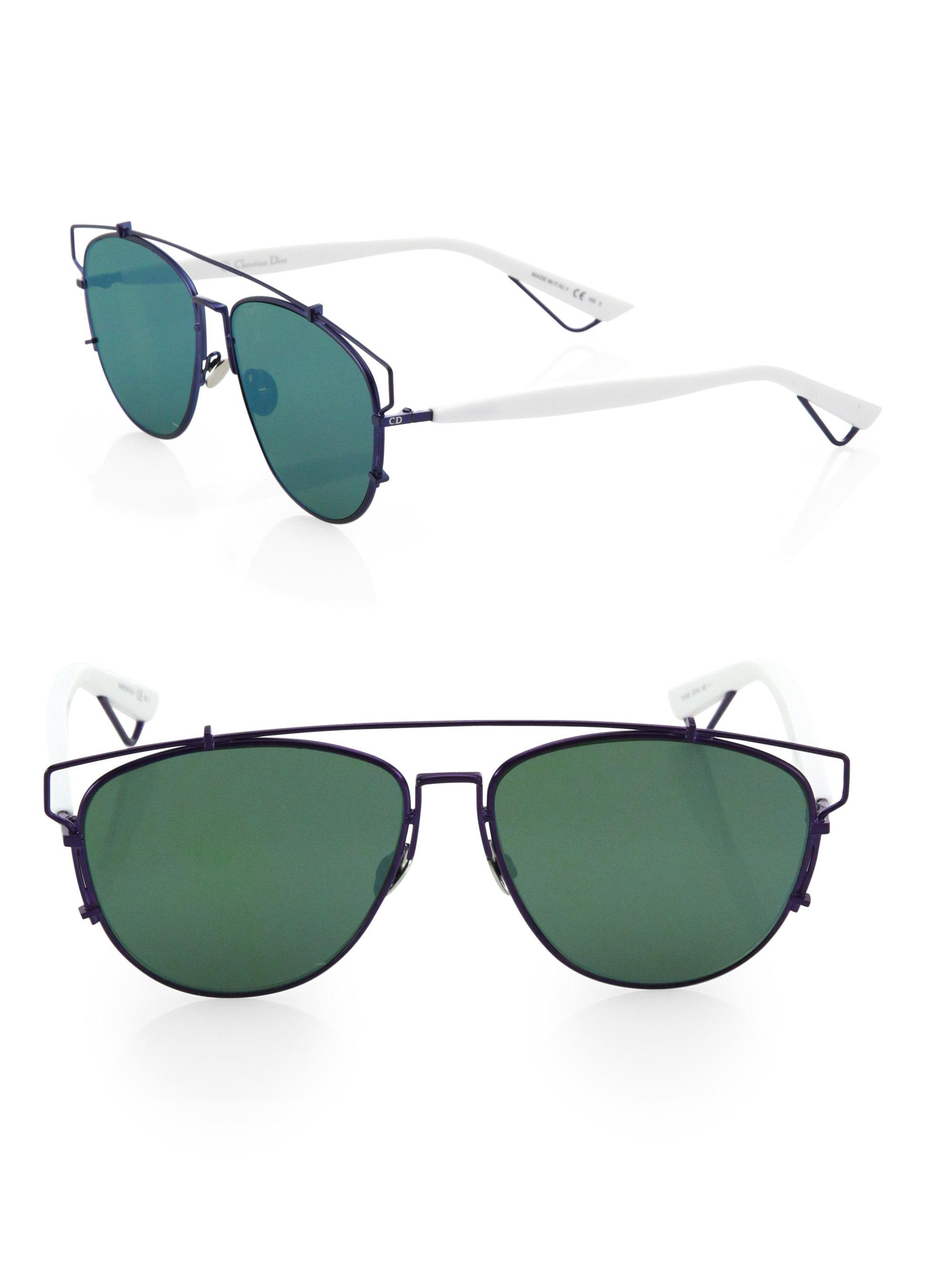 af79a89823d Lyst - Dior Women s Technologic 57mm Pantos Sunglasses - Dark Blue ...