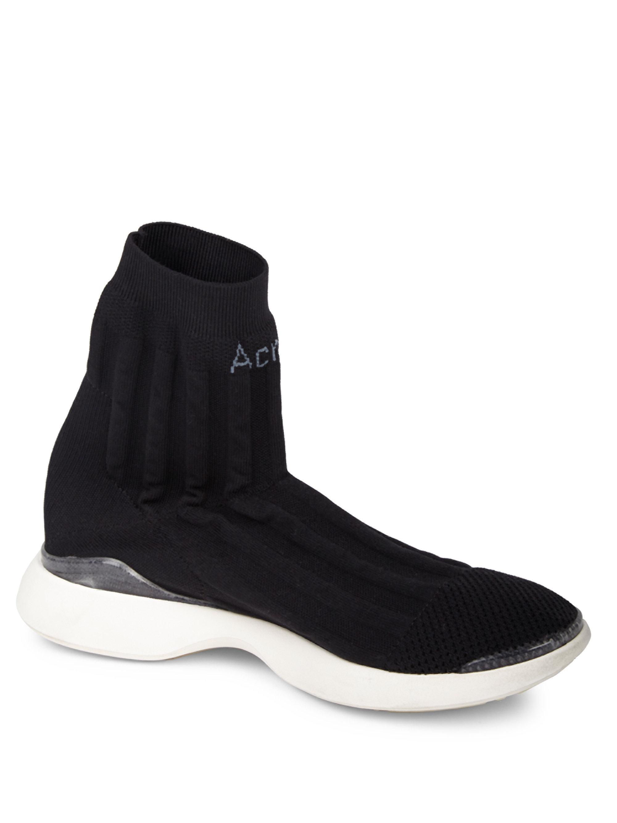 Batilda Sock Sneakers in Black Nylon Acne Studios oyygNmReQr