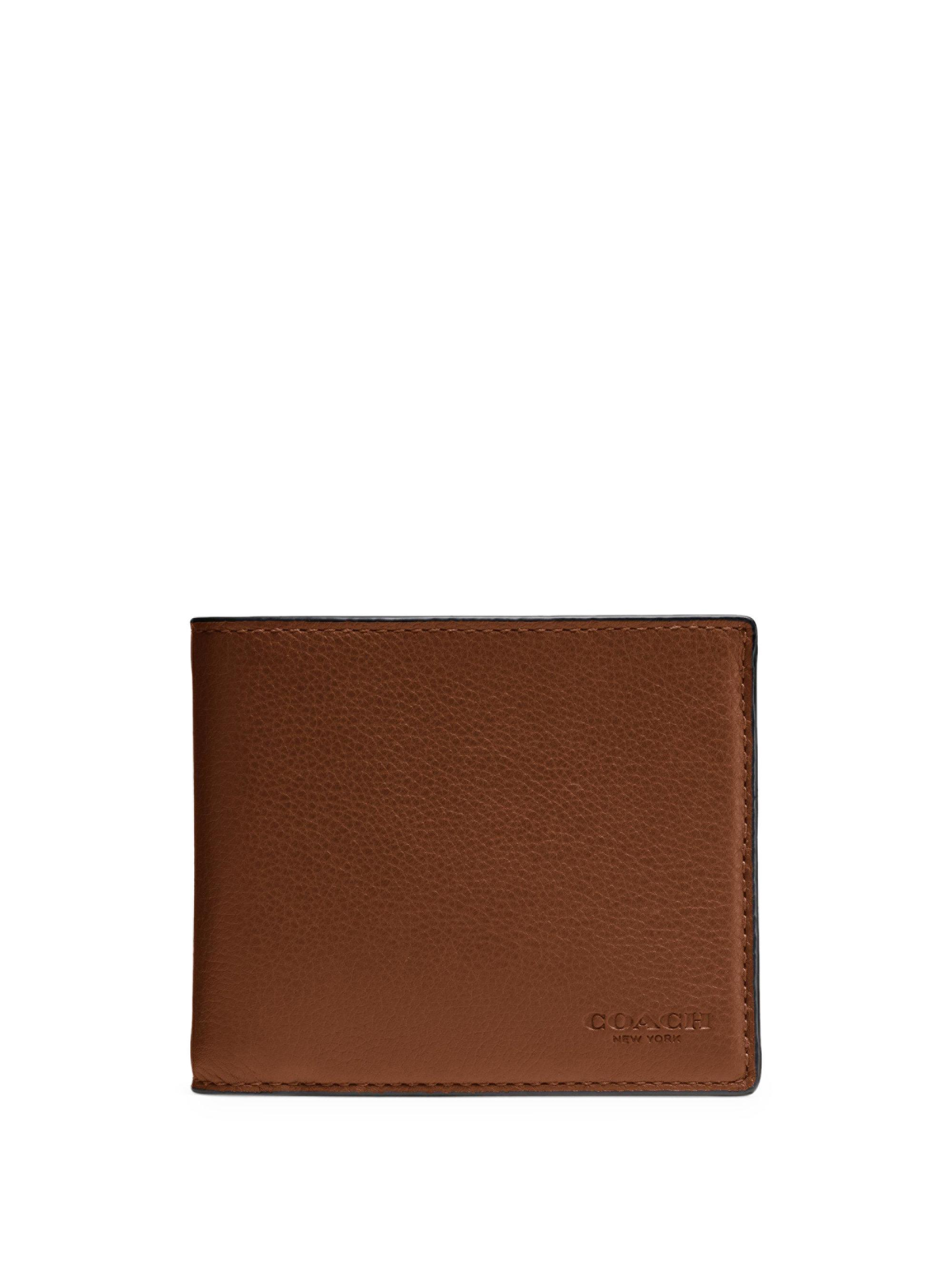 713f2a2cdbe47 ... cheapest lyst coach sport leather three in one wallet set in brown for  men 0a334 a890d