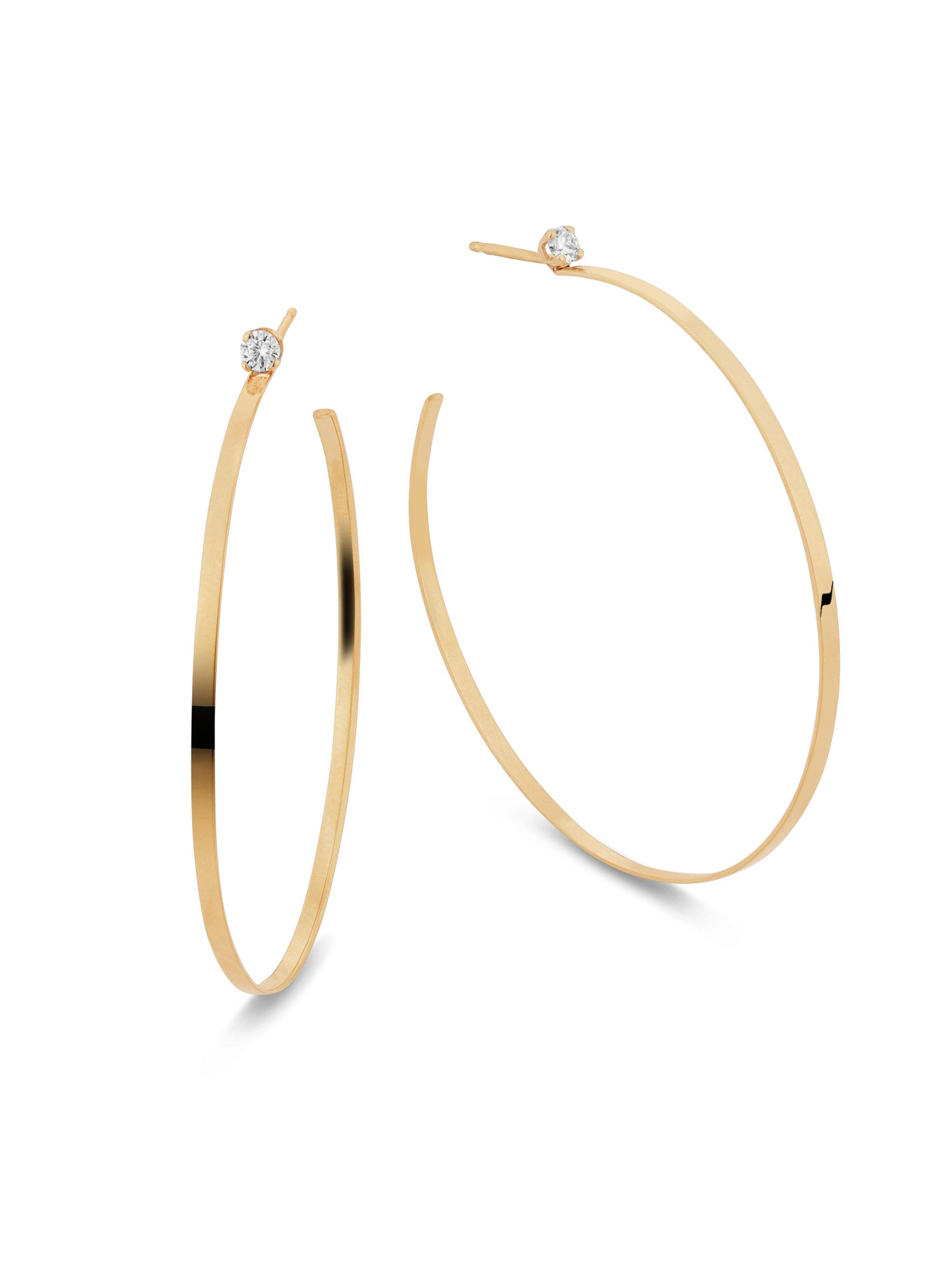 Lana Jewelry Flawless Large Teardrop Hoop Earrings with Diamonds B8JJp7