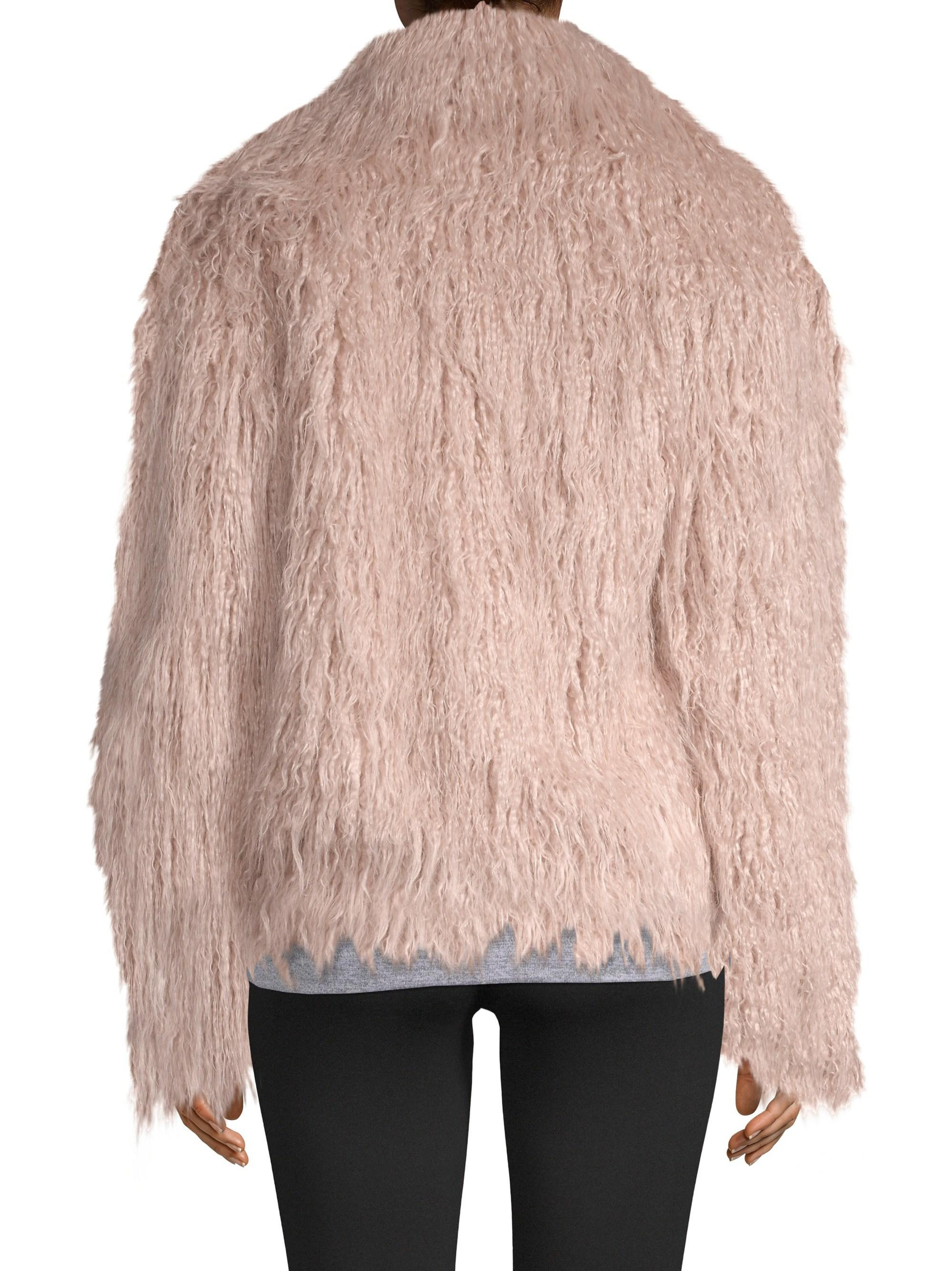 0f58791427b Lamarque Harika Faux Fur Jacket in Pink - Lyst