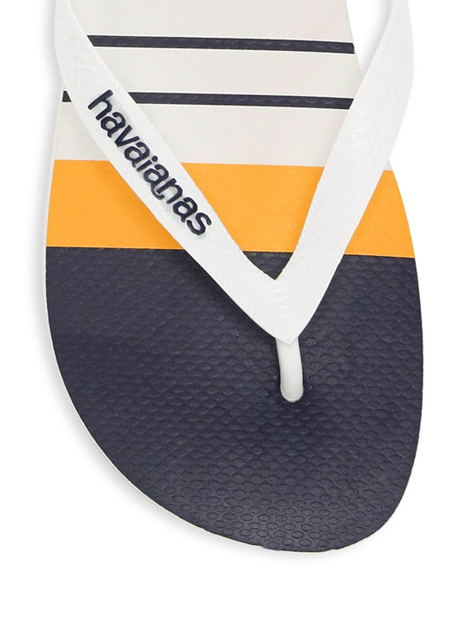 e0ffc7769 Lyst - Havaianas Men s Nautical Thong Flip-flops - White in White ...