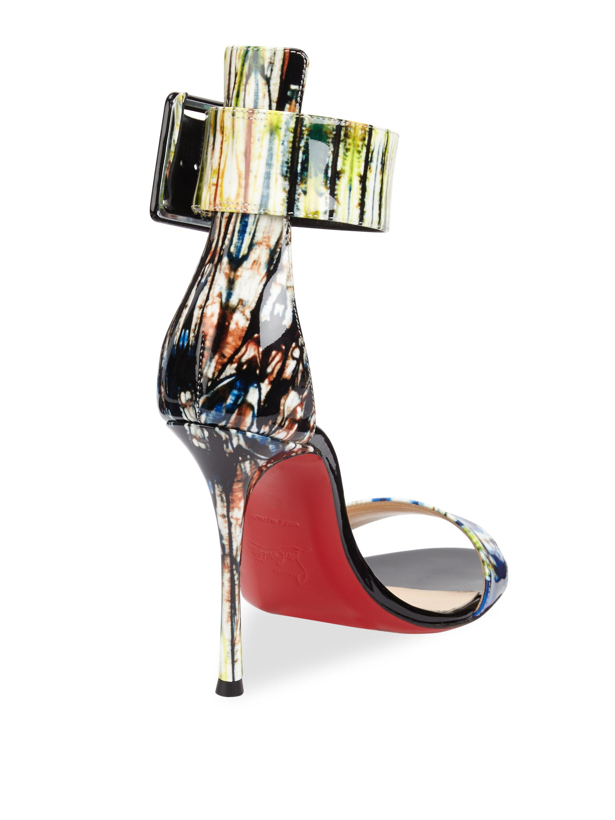 detailed look b2a09 057c1 Christian Louboutin Blade Runana Patent Leather Slingbacks ...