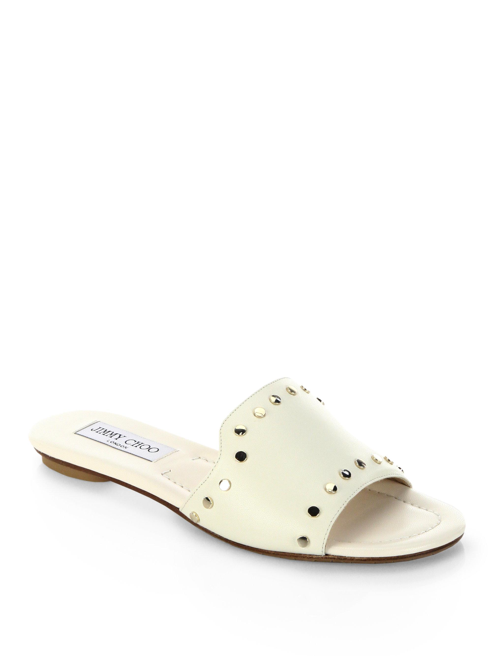 Jimmy choo Nanda NWU Studded Leather Slides 3suUihPez
