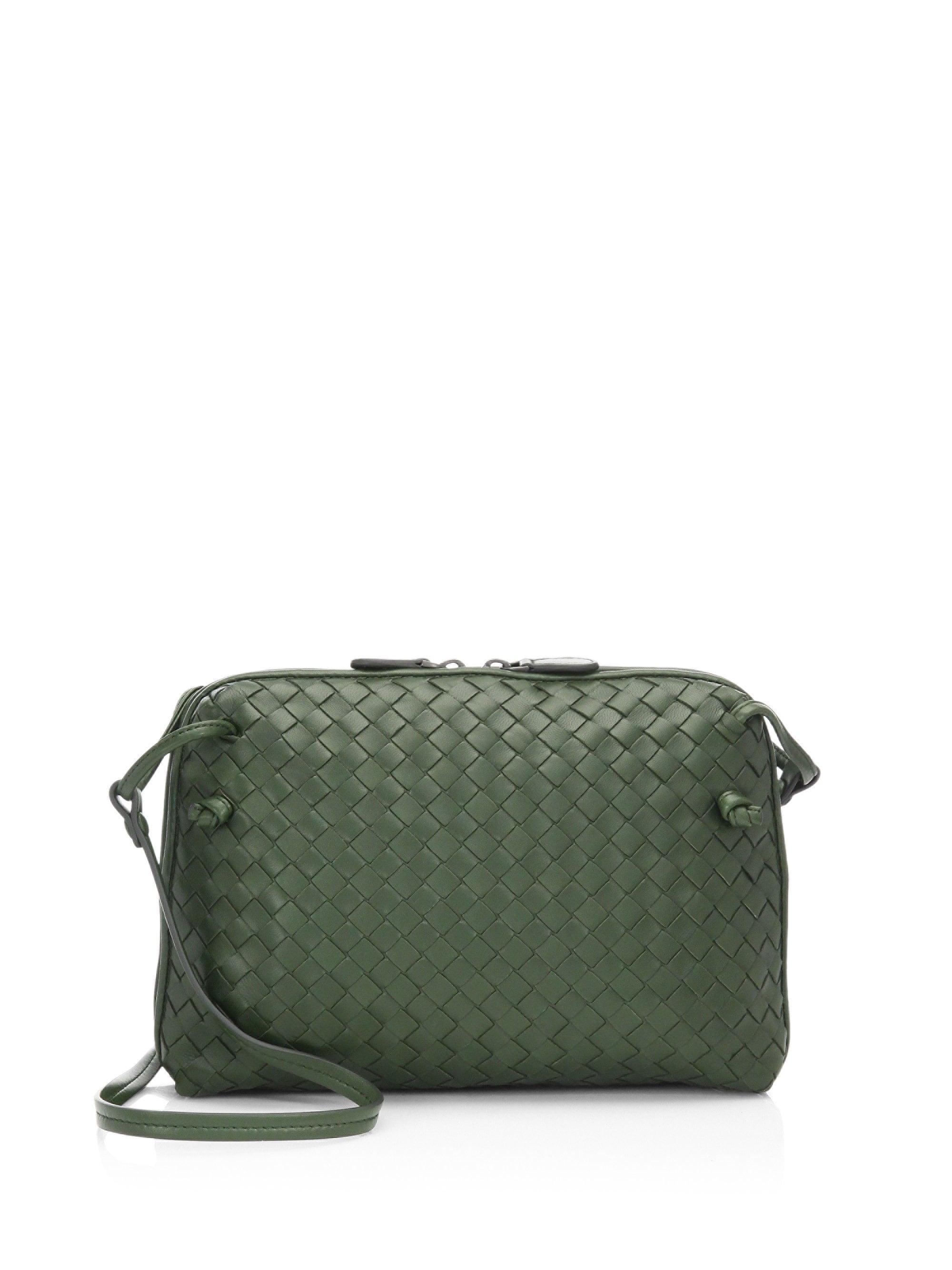 203471fffc73 Lyst - Bottega Veneta Small Pillow Intrecciato Leather Crossbody Bag ...