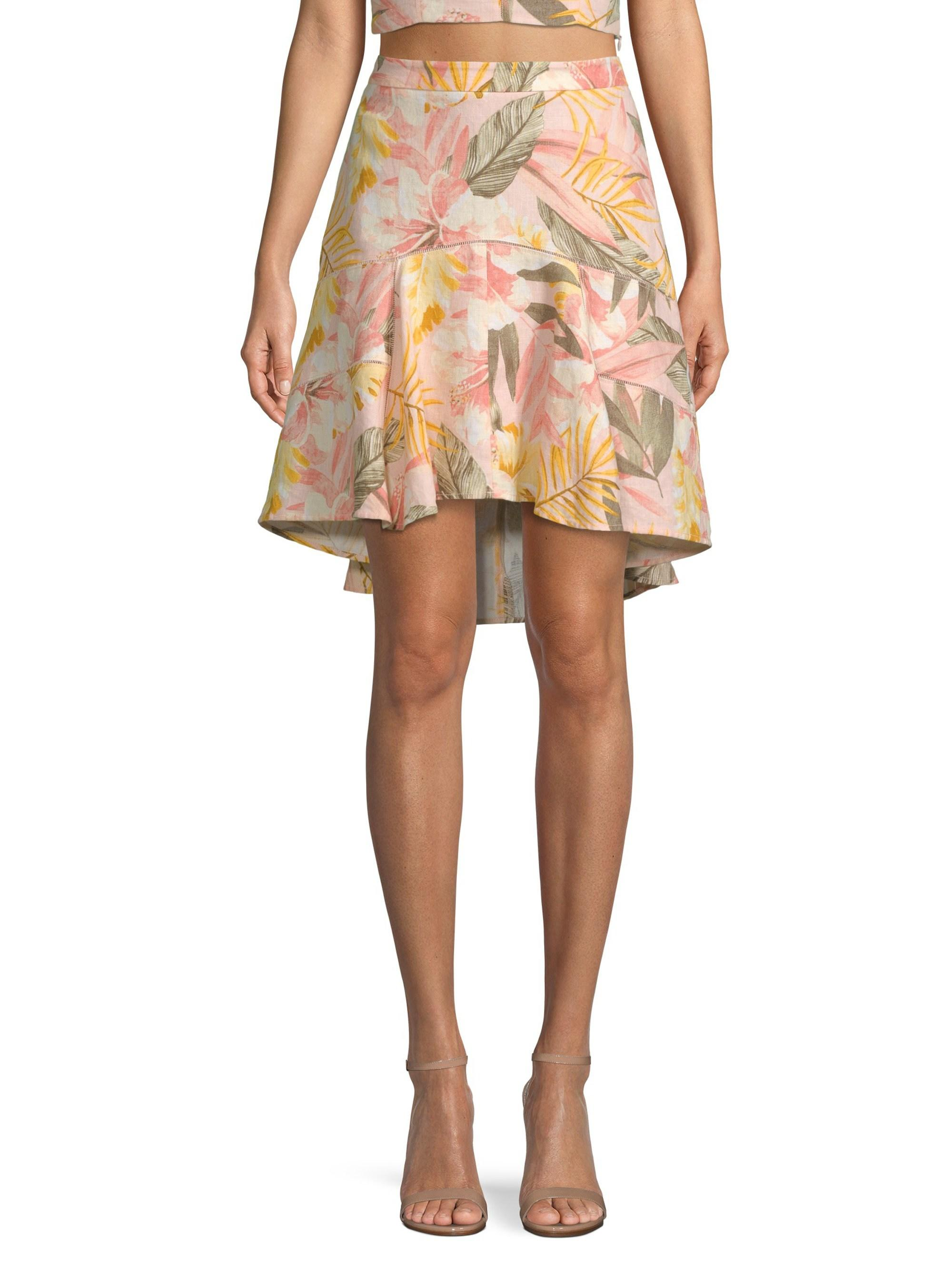511473bf81 Joie Women's Radhiya Floral Flounce Skirt - Dusty Nude - Size 10 - Lyst