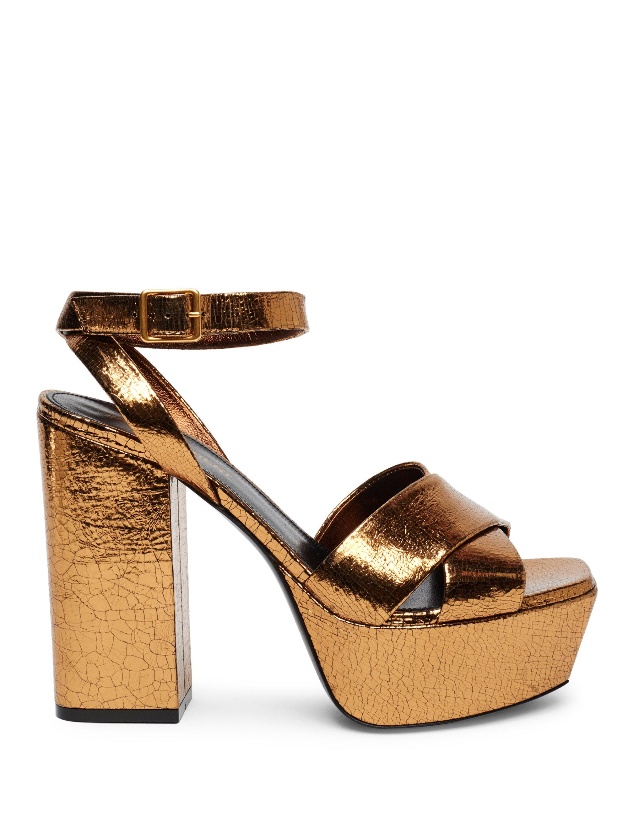 Farrah sandals - Metallic Saint Laurent UcKGYJcCVb